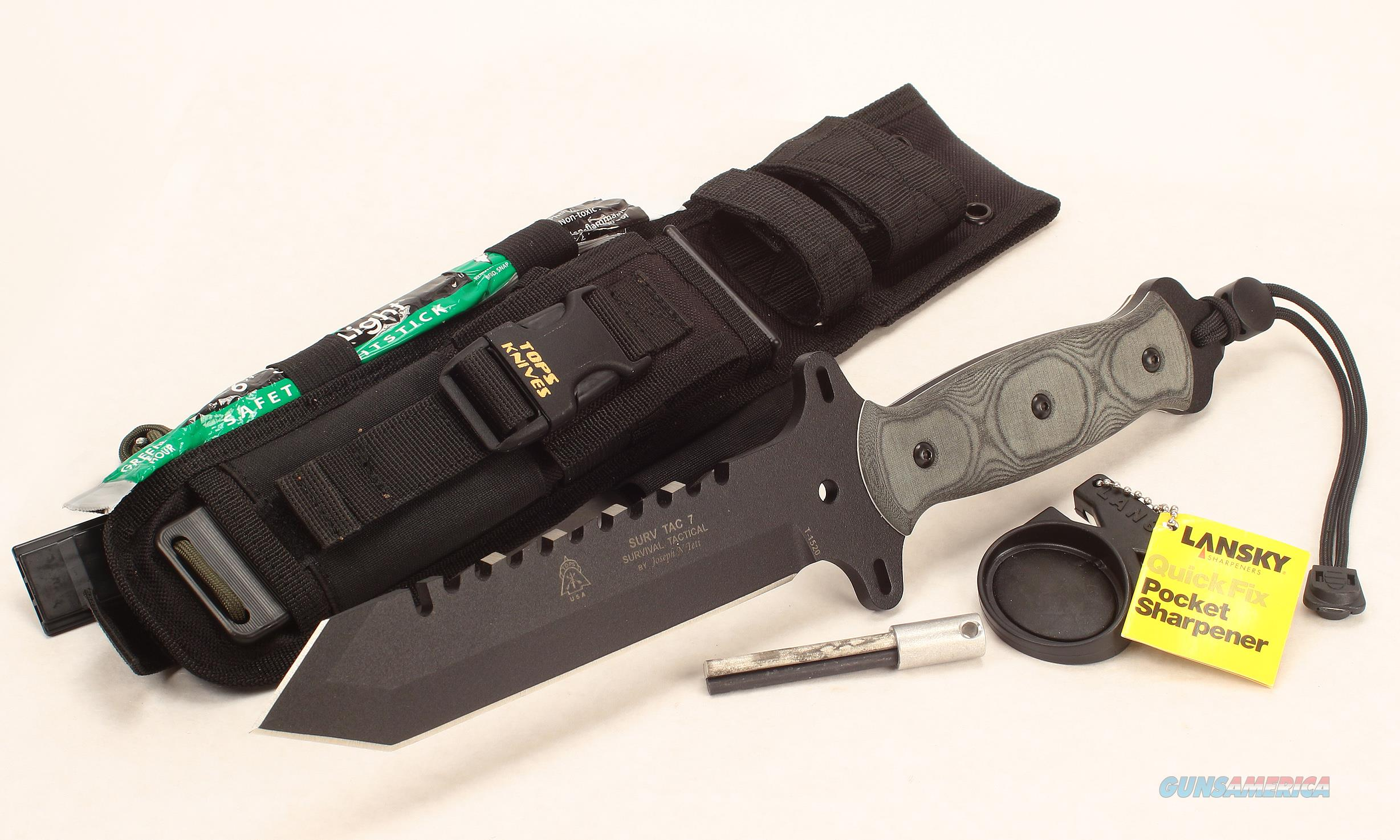 Tactical-Ops USA Survival Tactical Surv Tac 7 Knife  Non-Guns > Knives/Swords > Knives > Fixed Blade > Imported