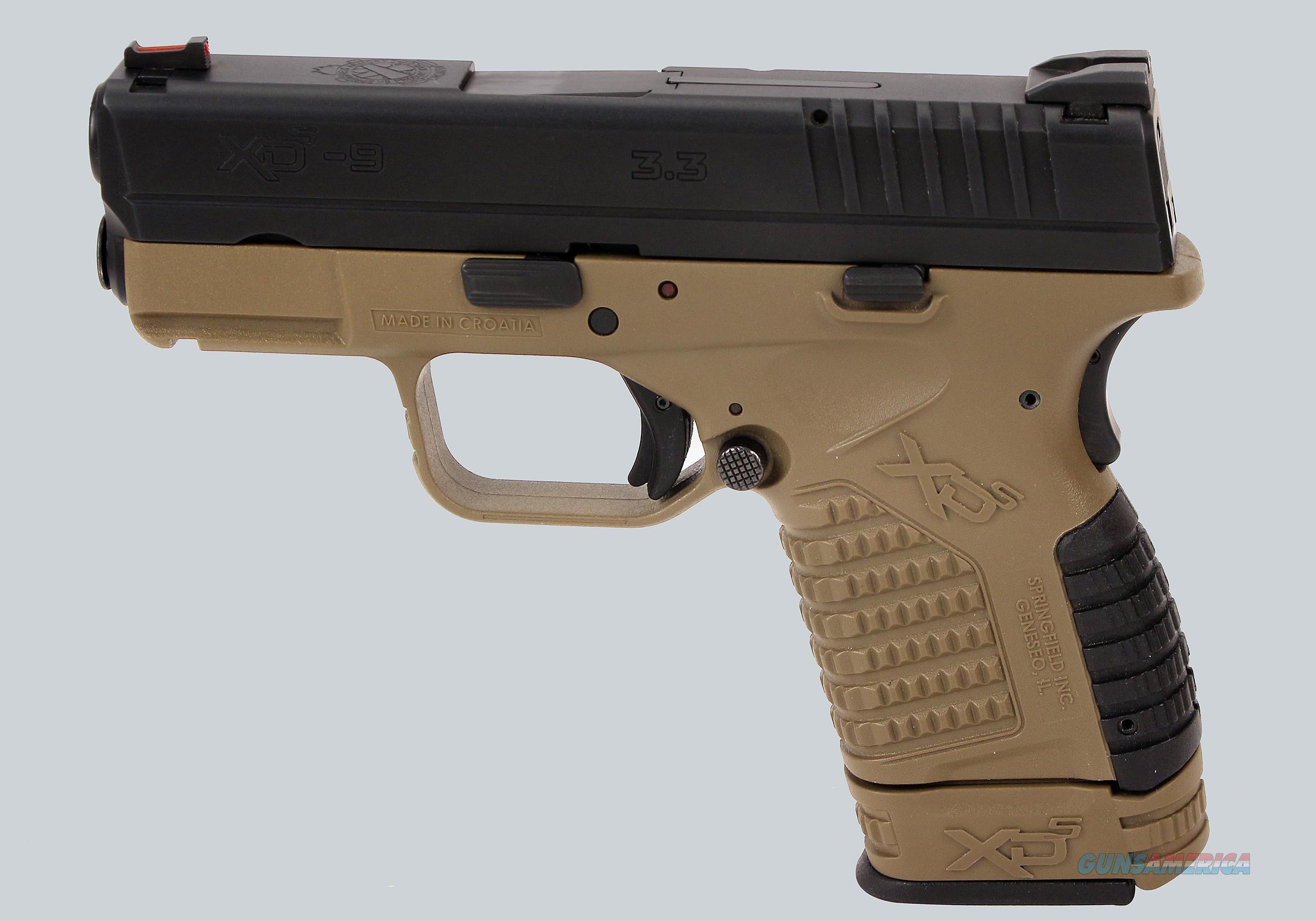 Springfield Armory 9mm XDS-9 Pistol  Guns > Pistols > Springfield Armory Pistols > XD-S