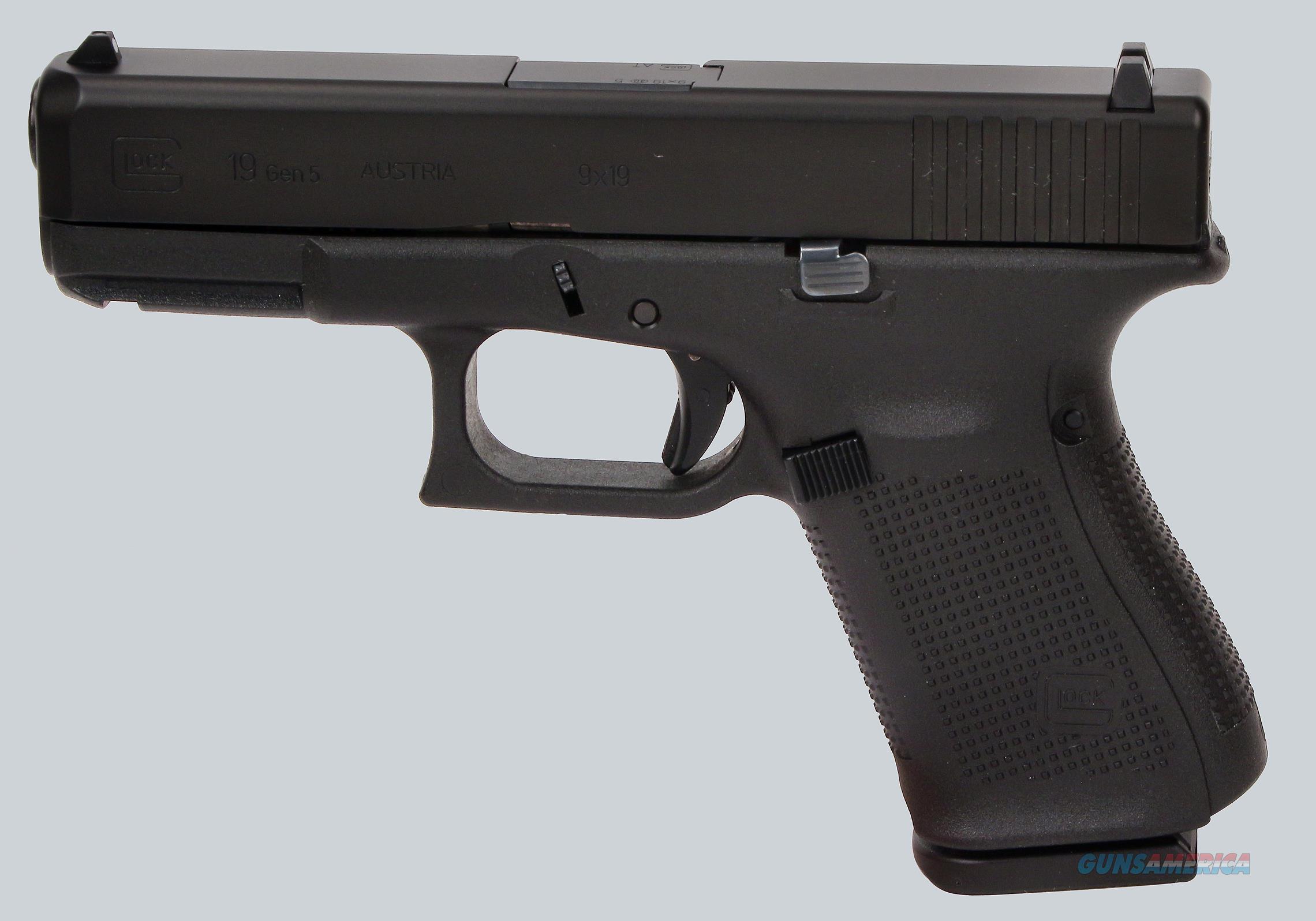 Glock 9mm Model 19 Gen 5 Pistol  Guns > Pistols > Glock Pistols > 19/19X