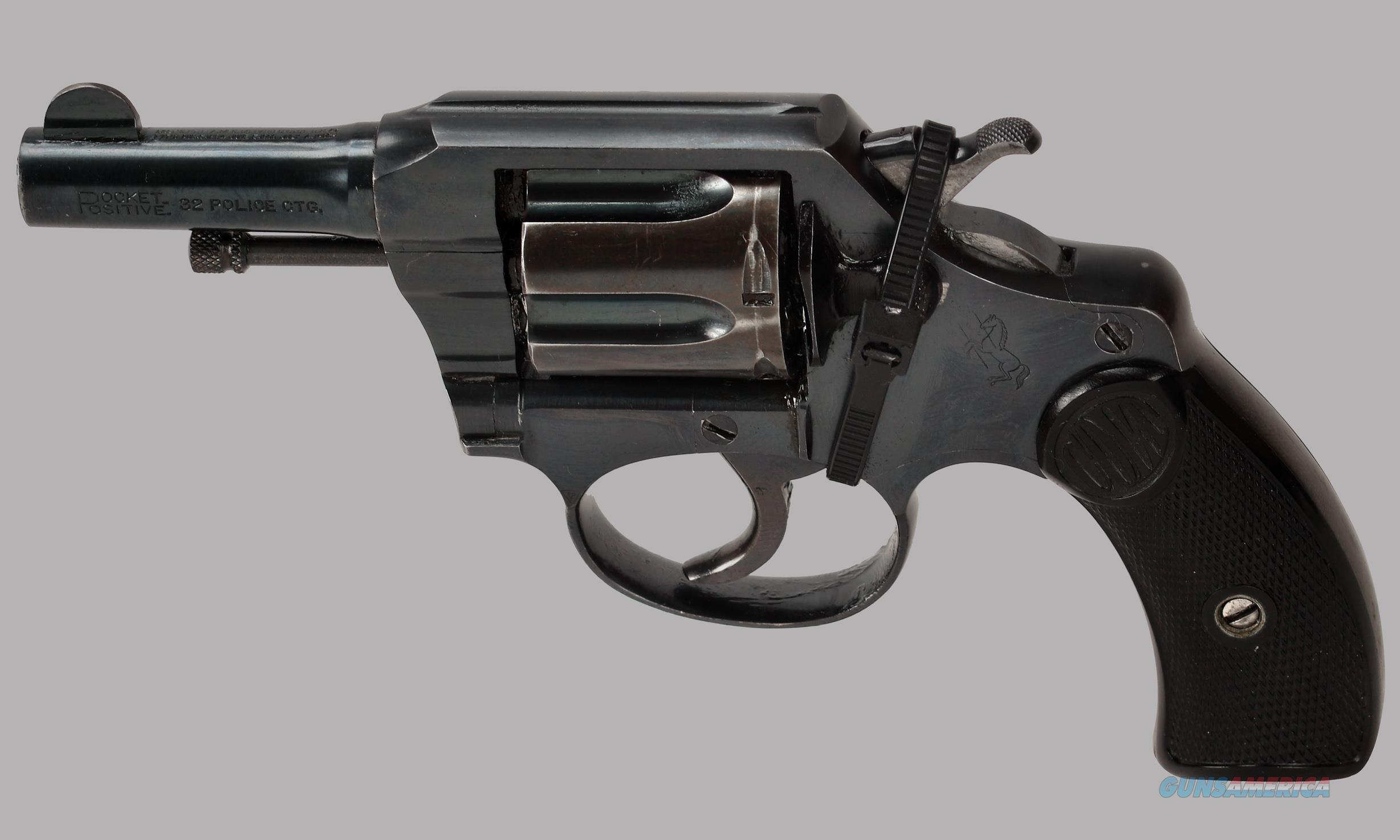 Colt 32 S&W Pocket Positive 32 Revolver  Guns > Pistols > Colt Double Action Revolvers- Pre-1945