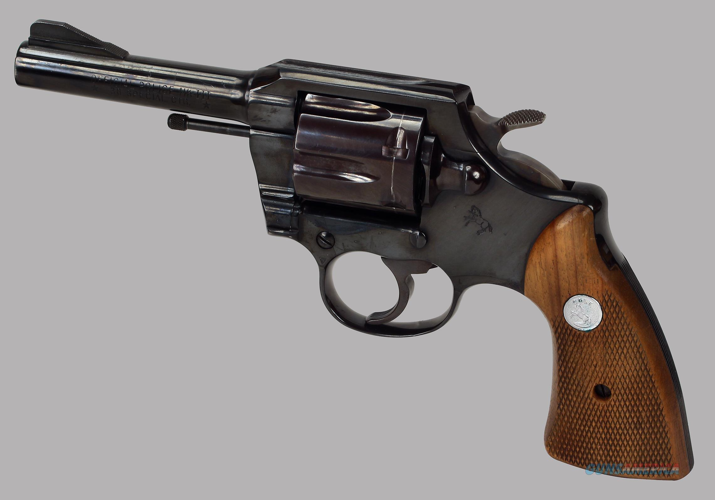 Colt Official Police MK III 38spl Revolver  Guns > Pistols > Colt Double Action Revolvers- Modern