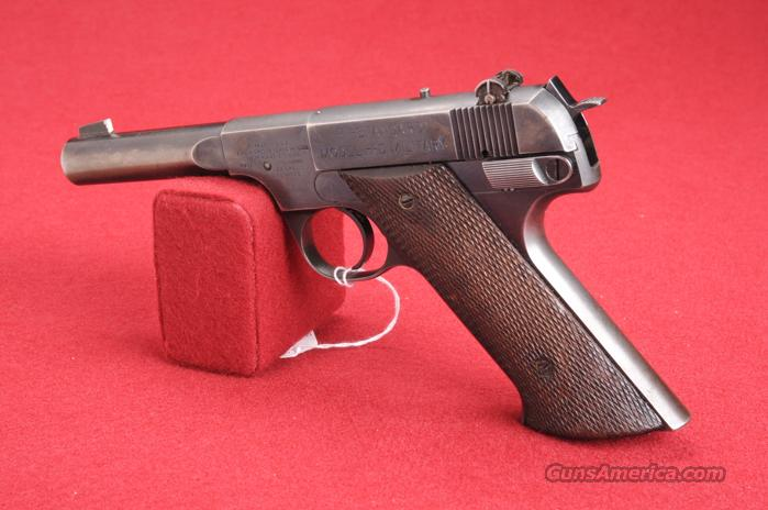 "HIGH STANDARD PISTOL MOD-H-D MILITARY .22LR CAL BARREL 4 1/4"" BLUE  Guns > Pistols > High Standard Pistols"