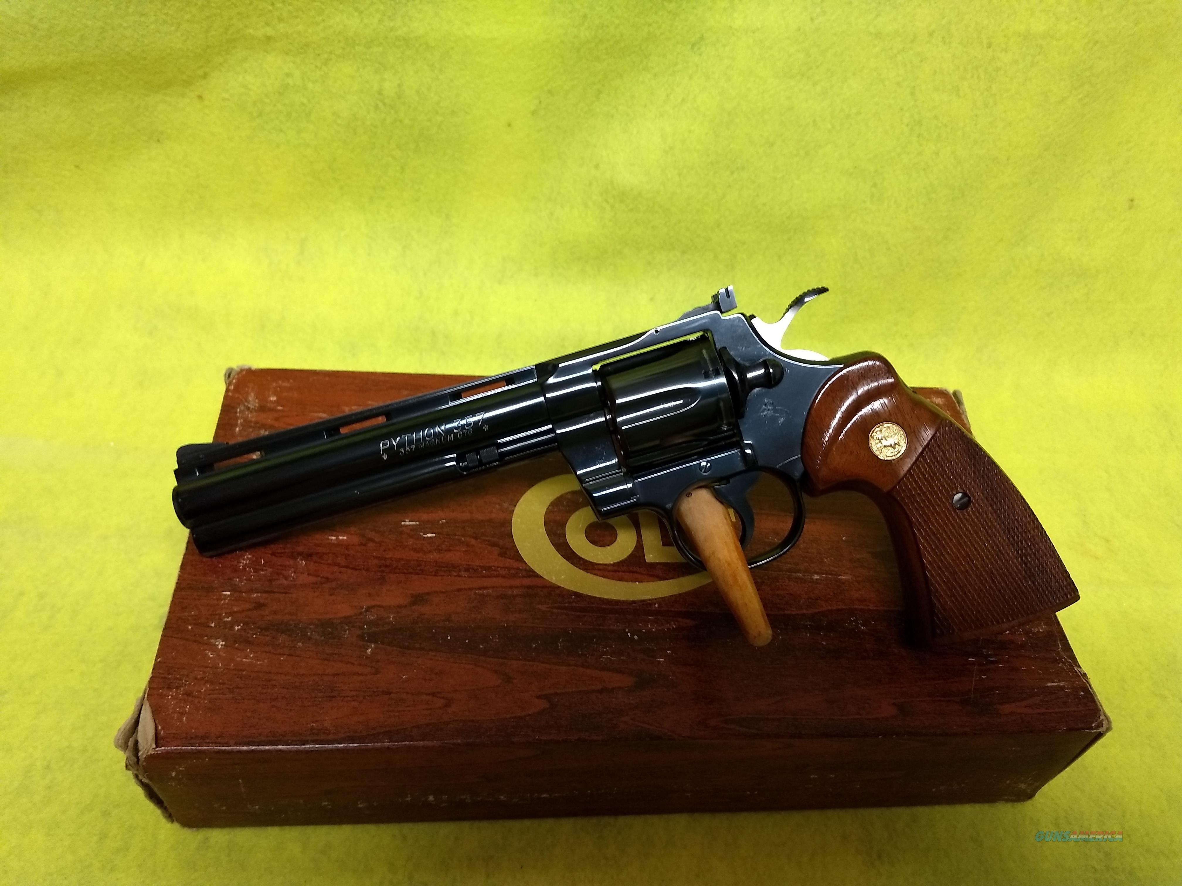 COLT PYTHON  Guns > Pistols > Colt Double Action Revolvers- Pre-1945