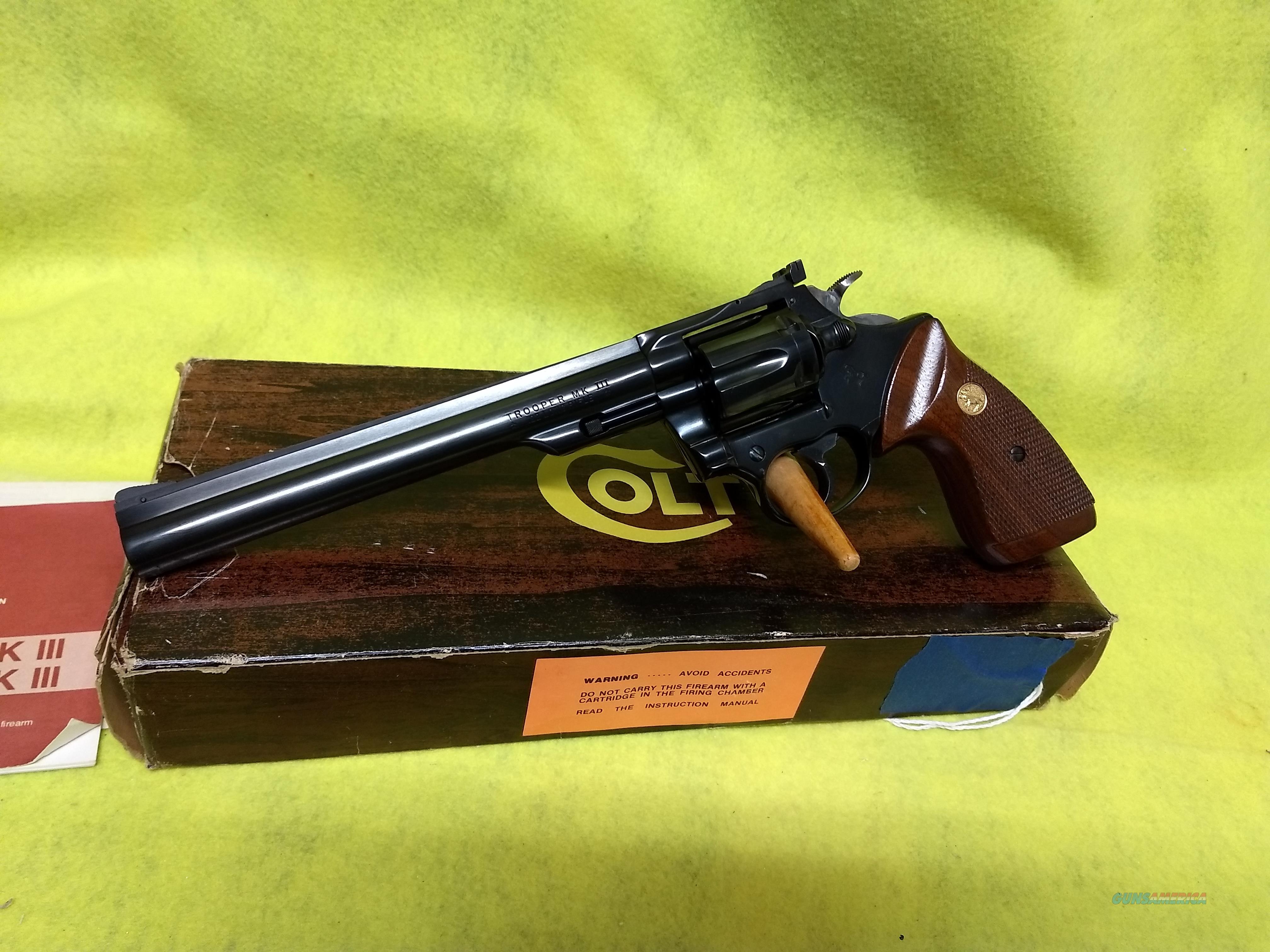 "Colt Mk 3 Trooper ,  8"", 22lr  Guns > Pistols > Colt Double Action Revolvers- Modern"