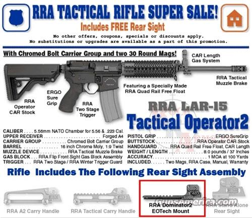 11838002 BB2512 Rock River Arms Tactical Operator 2 with Dominator 2 Rear Sight  Guns > Rifles > Rock River Arms Rifles