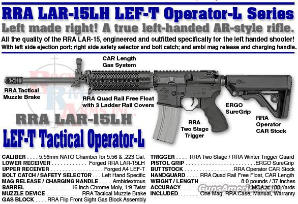 Rock River Arms LH1278 LEF-T Operator L 5.56/223  Guns > Rifles > Rock River Arms Rifles