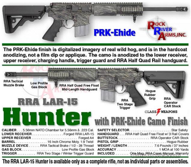 Rock River Arms PH1000 PRK-Ehide LAR-15 5.56/.223 Rifle  Guns > Rifles > Rock River Arms Rifles