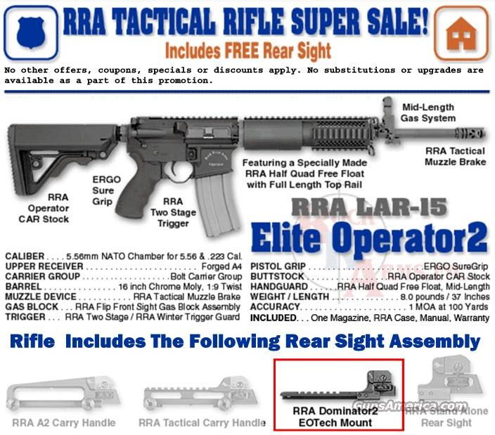 Rock River Arms BB2522 Elite Operator 2 with Dominator 2 Rear Sight  Guns > Rifles > Rock River Arms Rifles