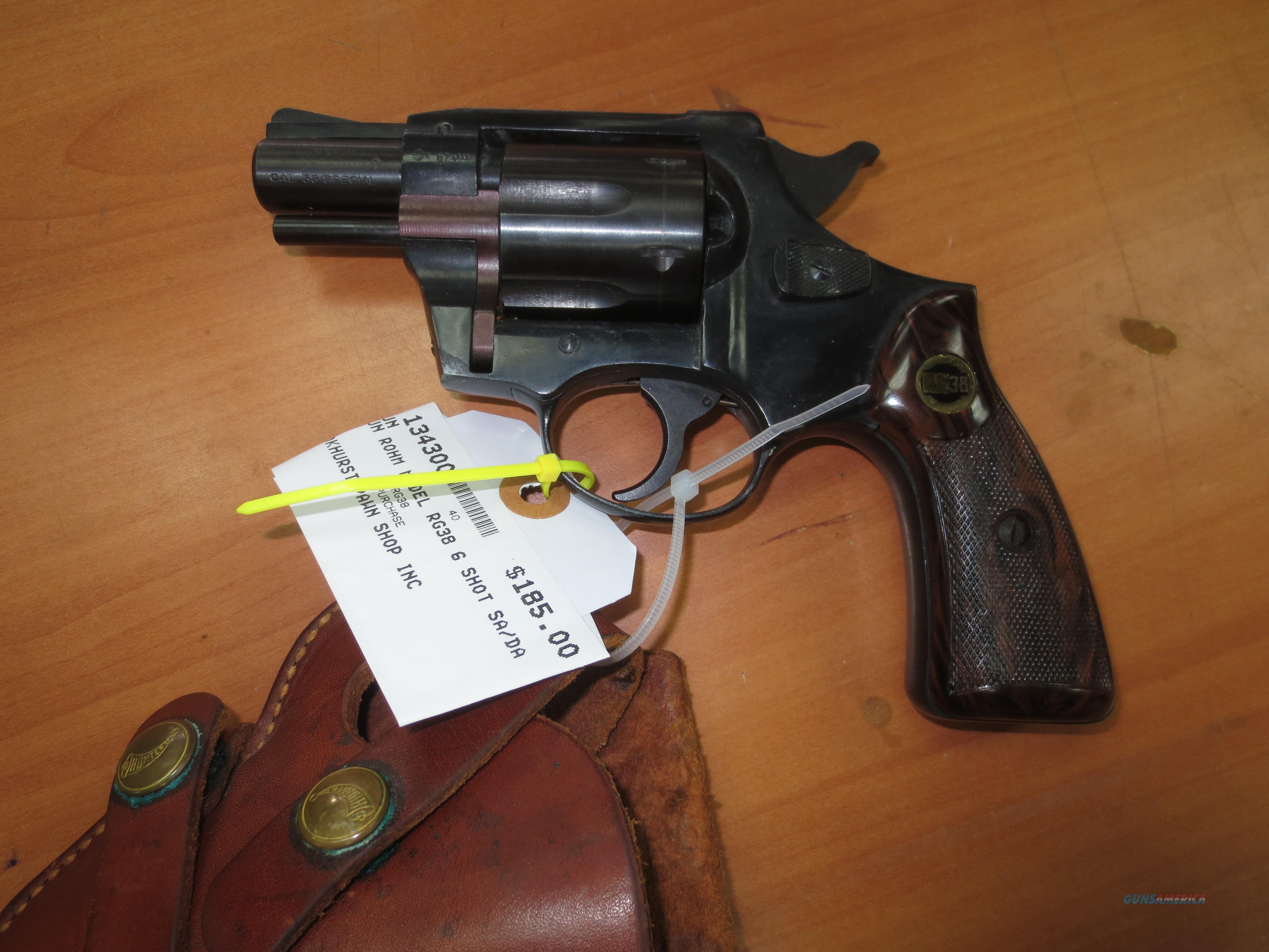 Rohm model RG38 revolver 6 shot .38 spl  Guns > Pistols > R Misc Pistols
