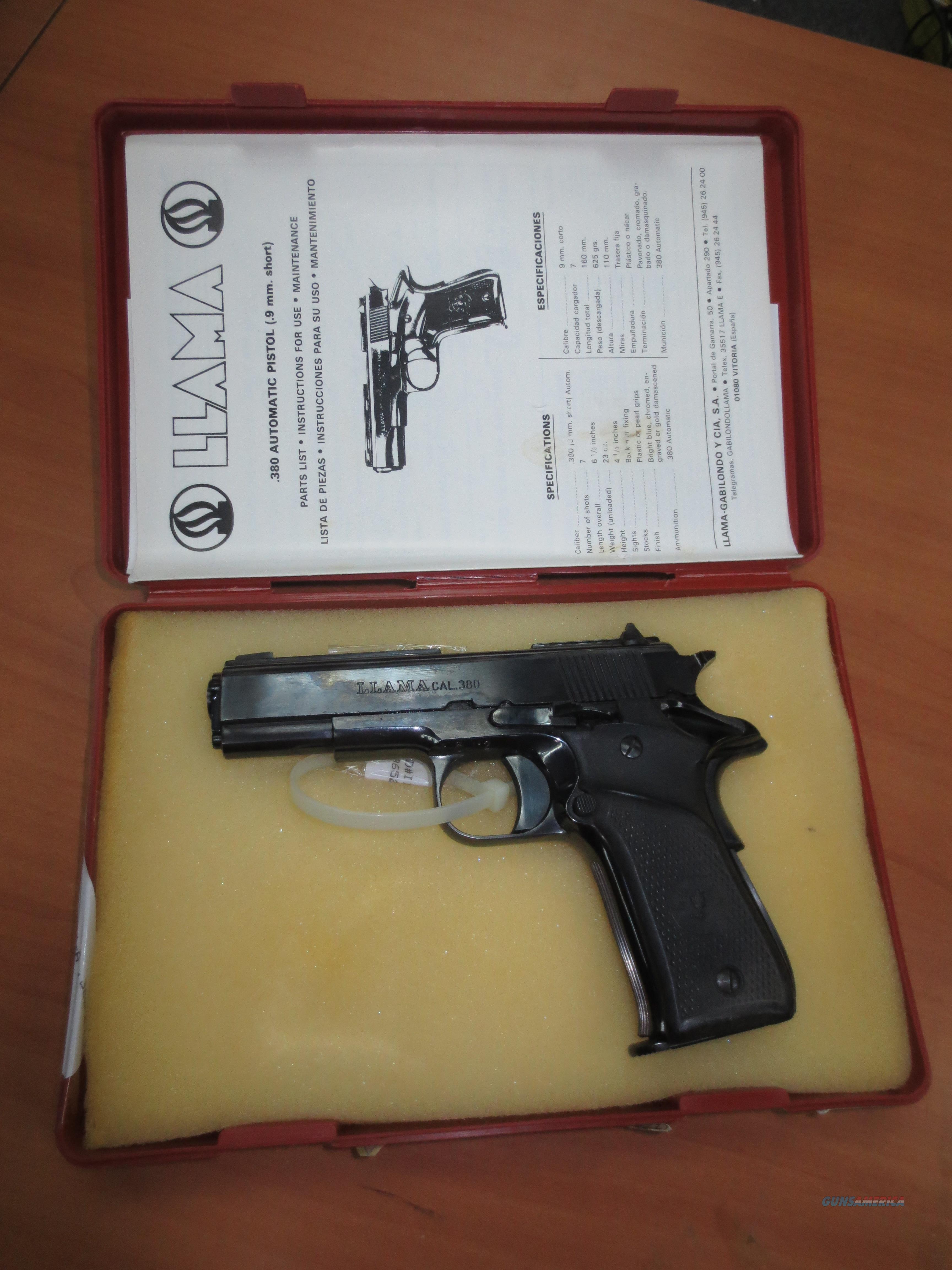 Llama Model III-A .380 caliber  Guns > Pistols > Llama Pistols