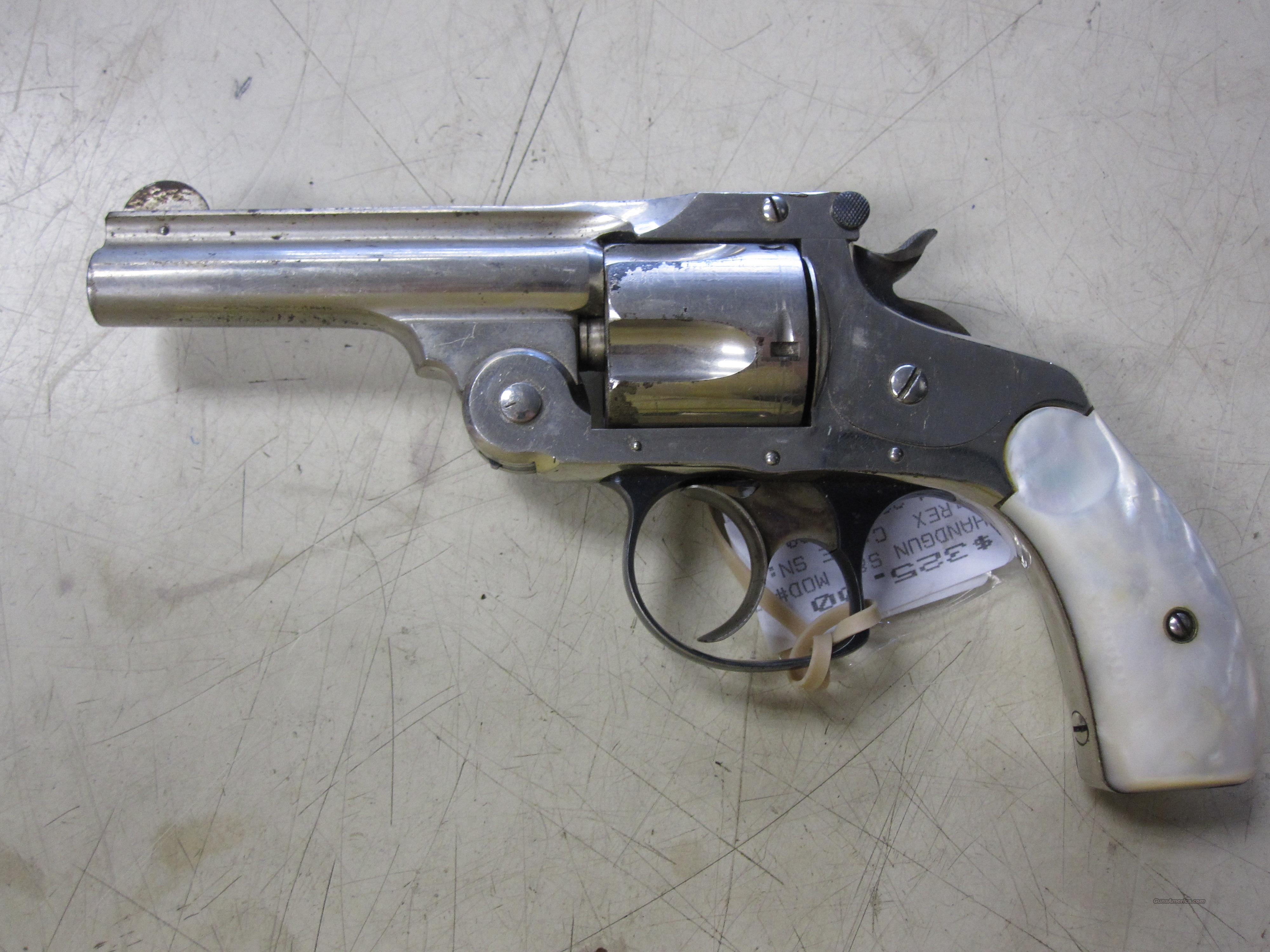 S&W mod# Topbreak 5 shot revolver w/ faux pearl grips & case colored trigger & hammer   Guns > Pistols > Smith & Wesson Revolvers > Pre-1945