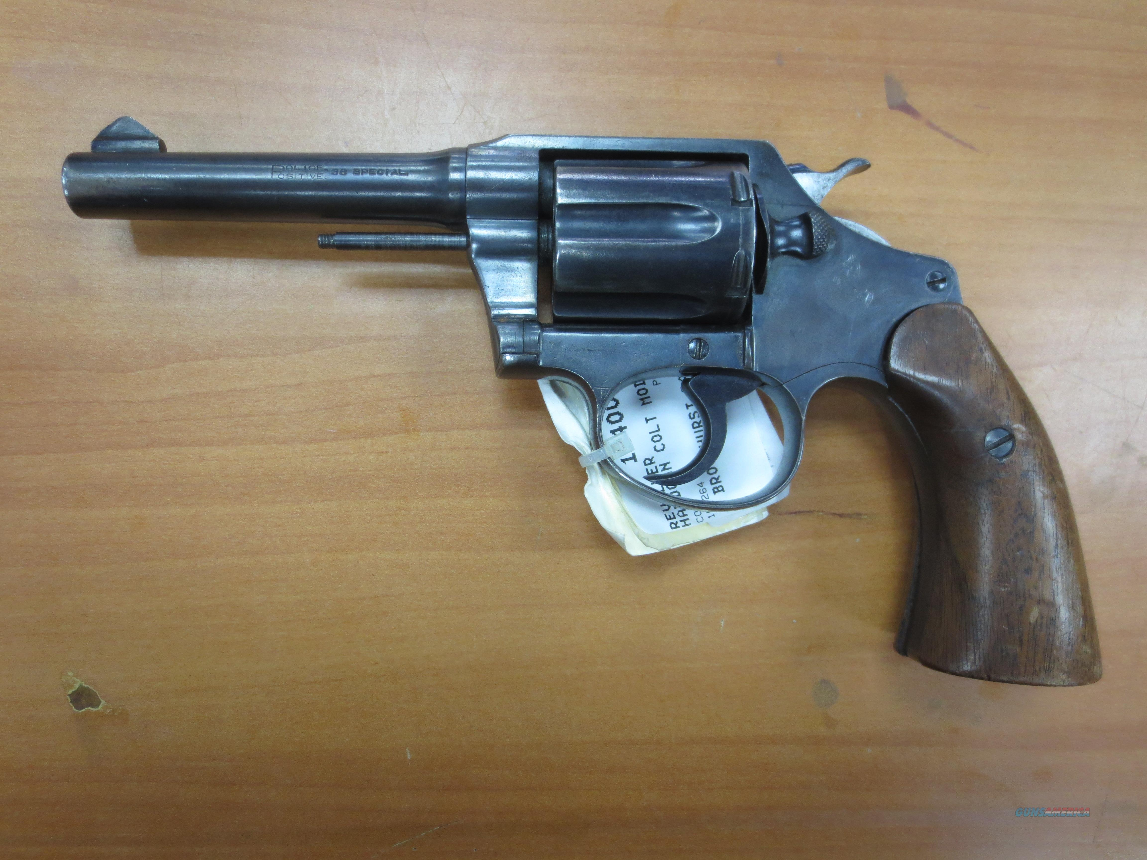 "Colt Mod# Police Positive 38 special cal. 4"" barrell  Guns > Pistols > Colt Double Action Revolvers- Pre-1945"