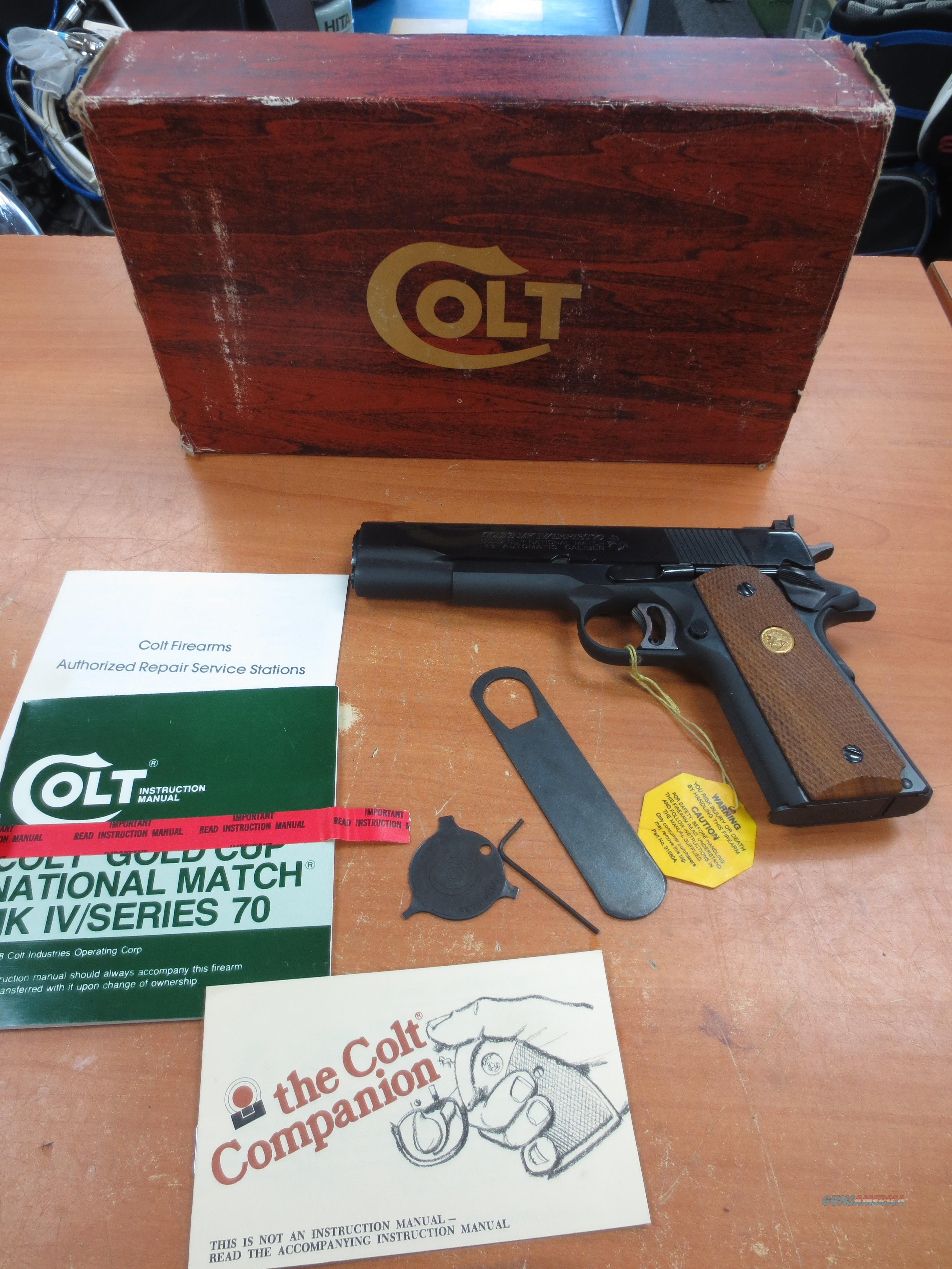 New! Colt 1911 Gold Cup National Match Series 70 Mark IV Never fired!!!   Guns > Pistols > Colt Automatic Pistols (1911 & Var)