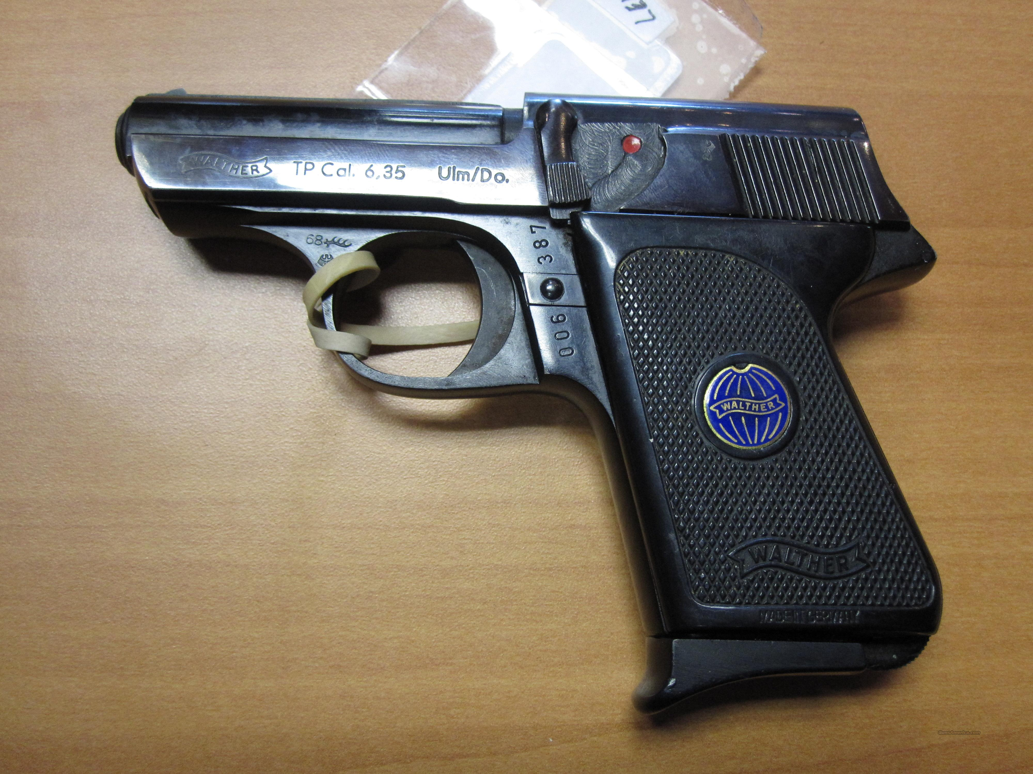 "Walther mod# TP (6.35mm/.25cal) w/ 2.5"" barrel   Guns > Pistols > Walther Pistols > Post WWII > Target Pistols"