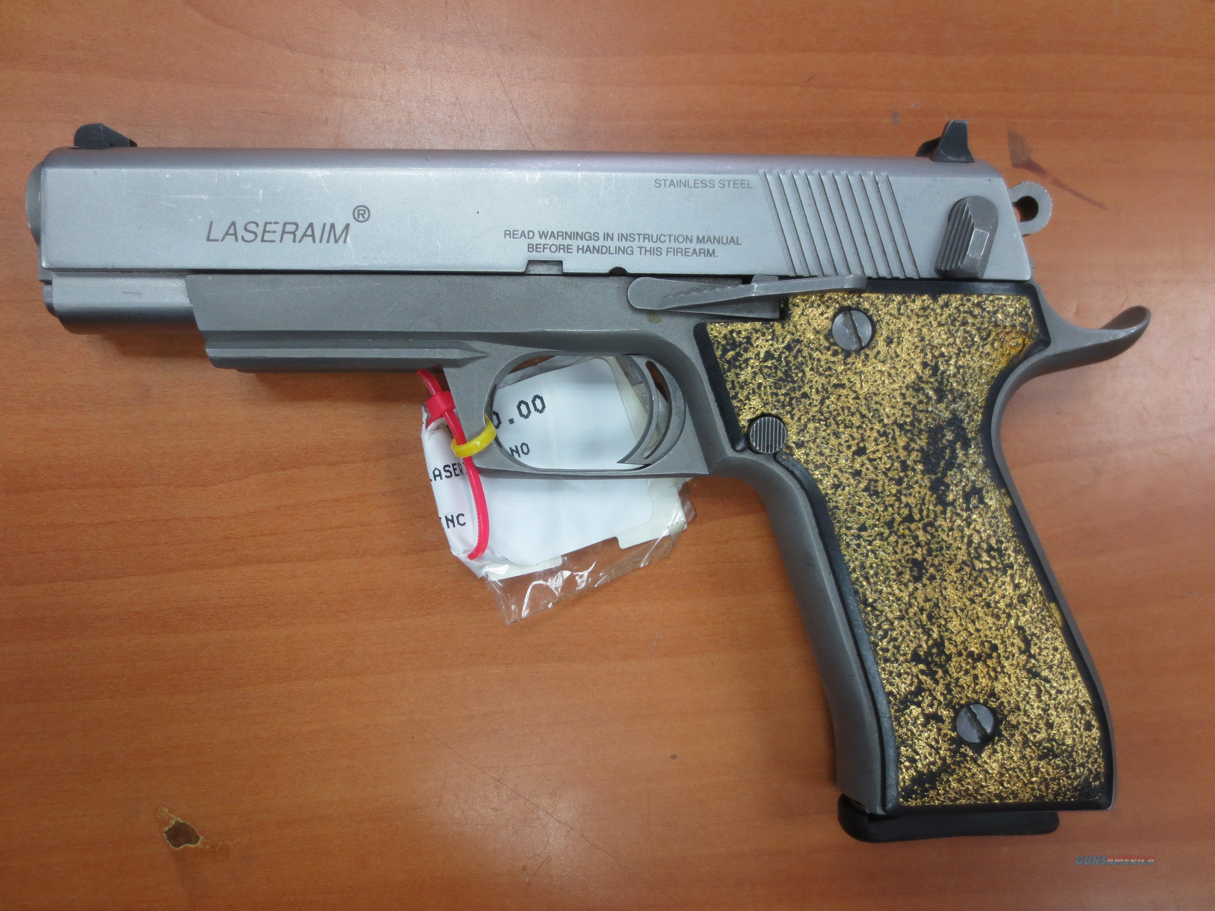 """Laseraim 5"""" stainless 45 cal pistol   Guns > Pistols > LaserAim Pistols"""