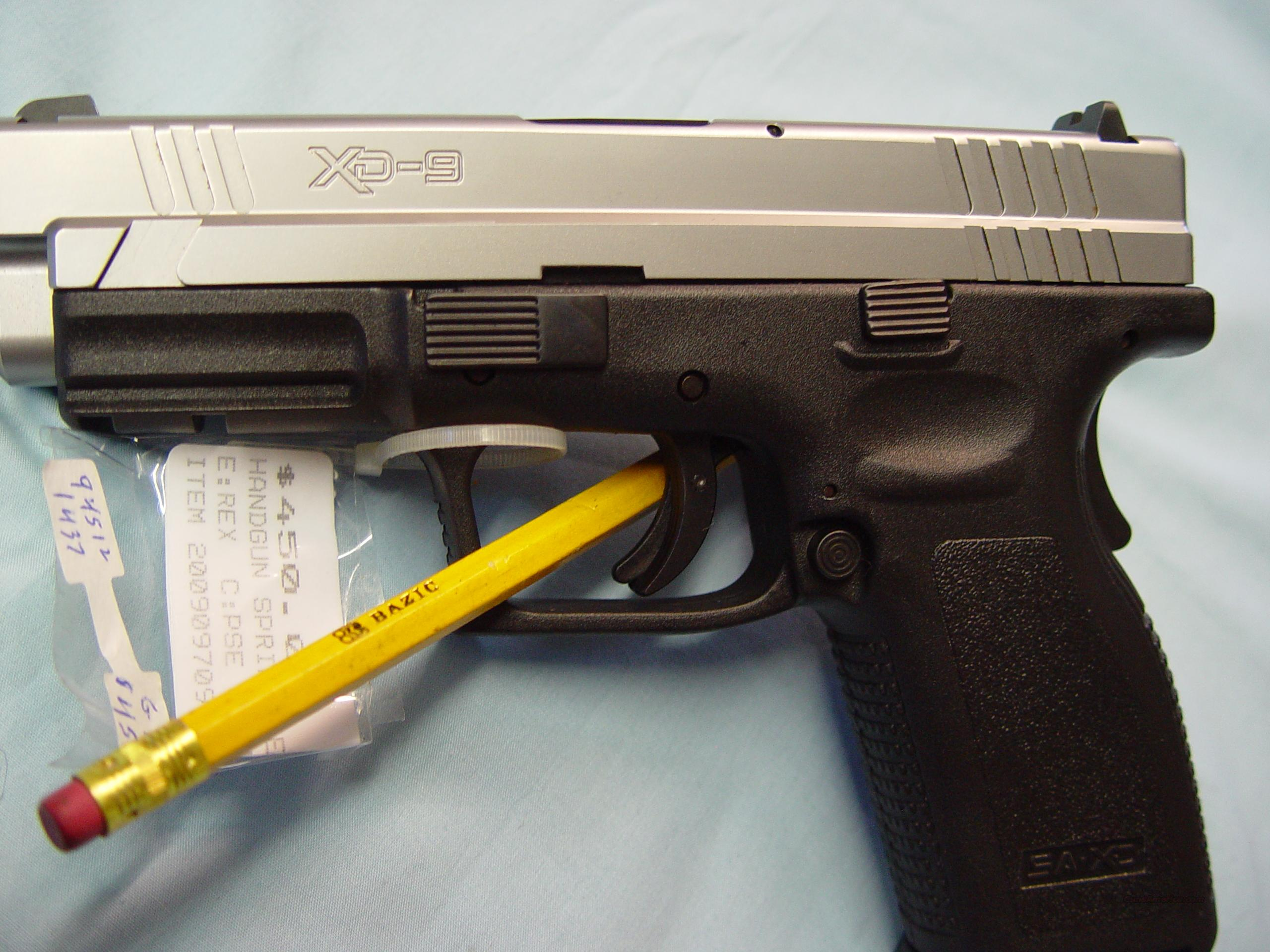 Springfield Xd9 Pistol W  Case  U0026 2x10 Rd Mags For Sale
