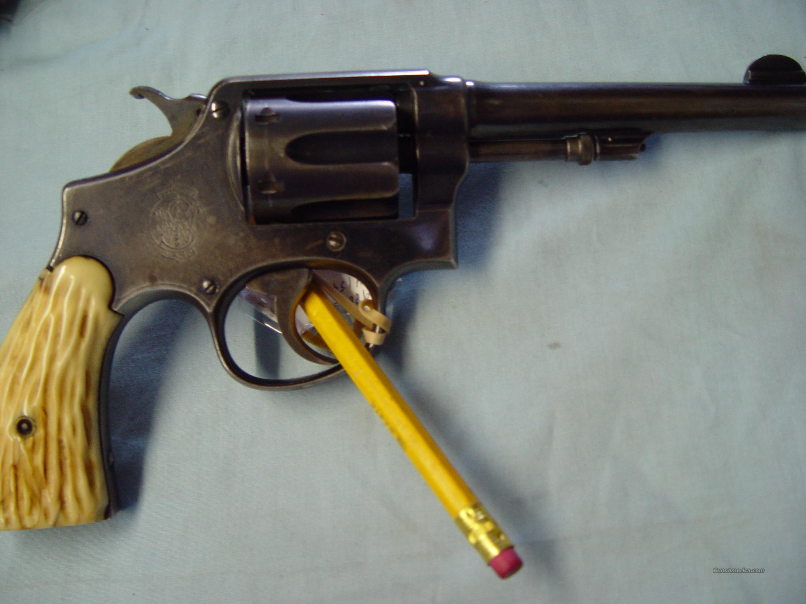 "S&W mod# DA 32 5"" barrel (bone grips)  Guns > Pistols > Smith & Wesson Revolvers > Model 10"