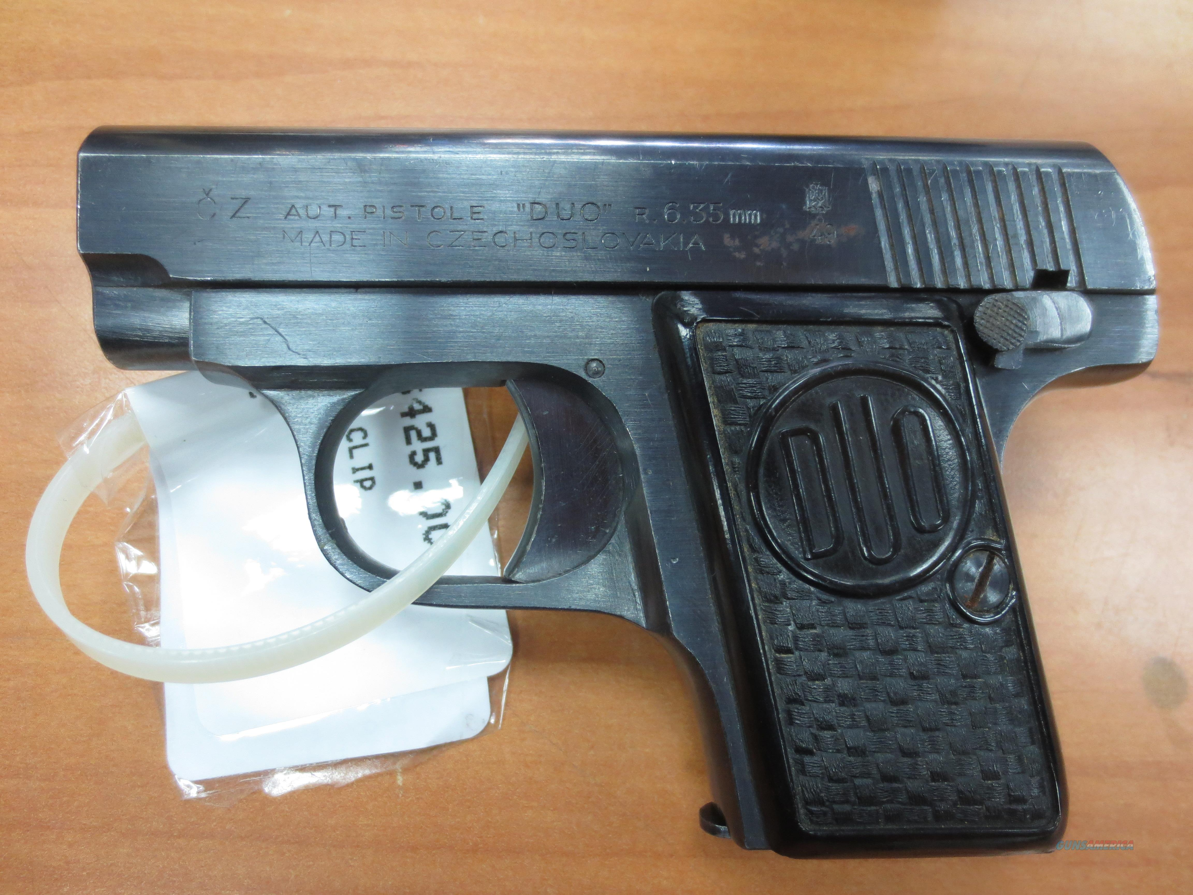 "CZ ""DUO"" pistol 6.35mm (25 acp) made 1949   Guns > Pistols > CZ Pistols"