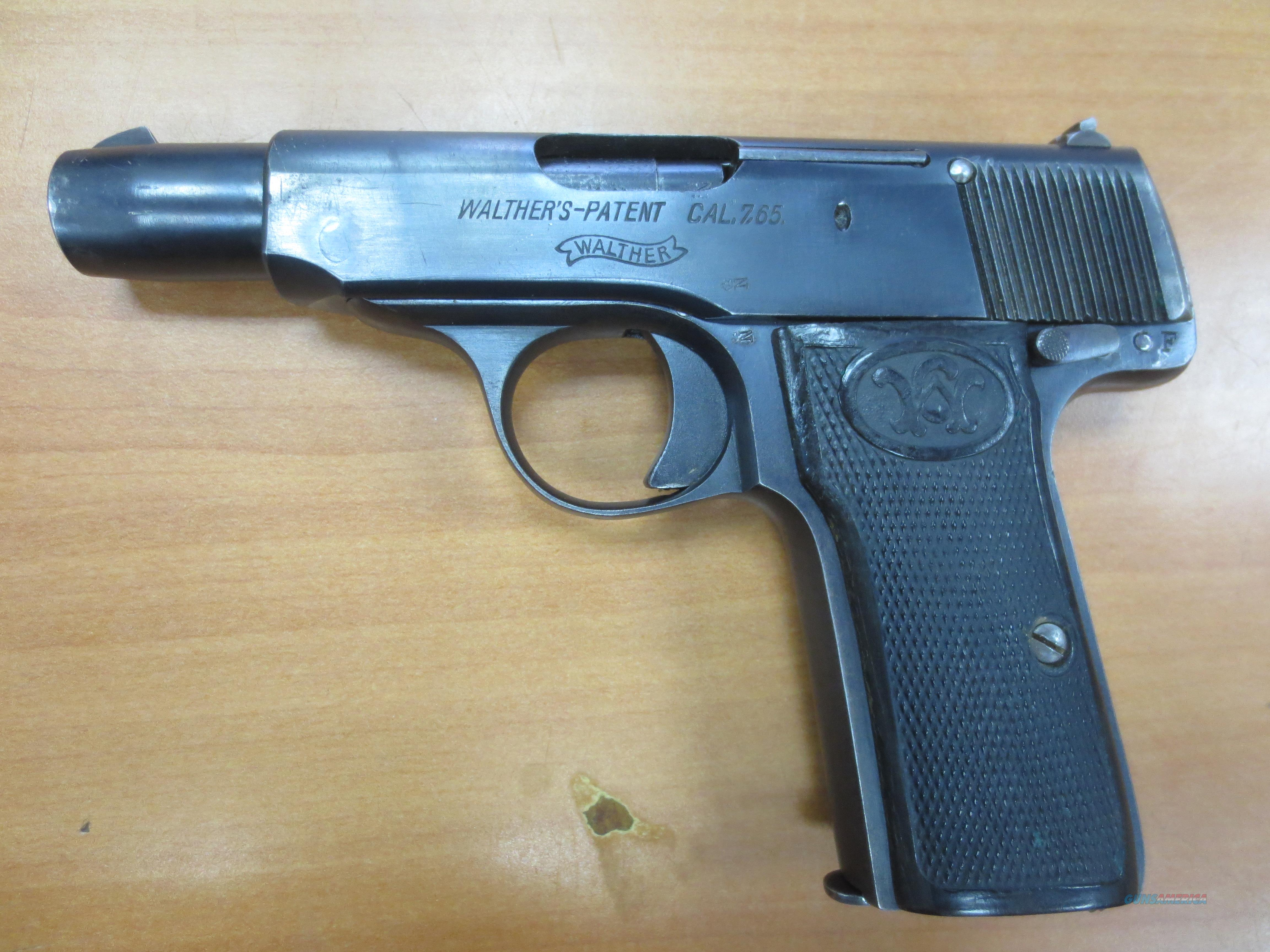 """Walther mod#4 7.65 cal 3.5"""" barrel (vintage 1910)  Guns > Pistols > Walther Pistols > Pre-1945 > Other"""