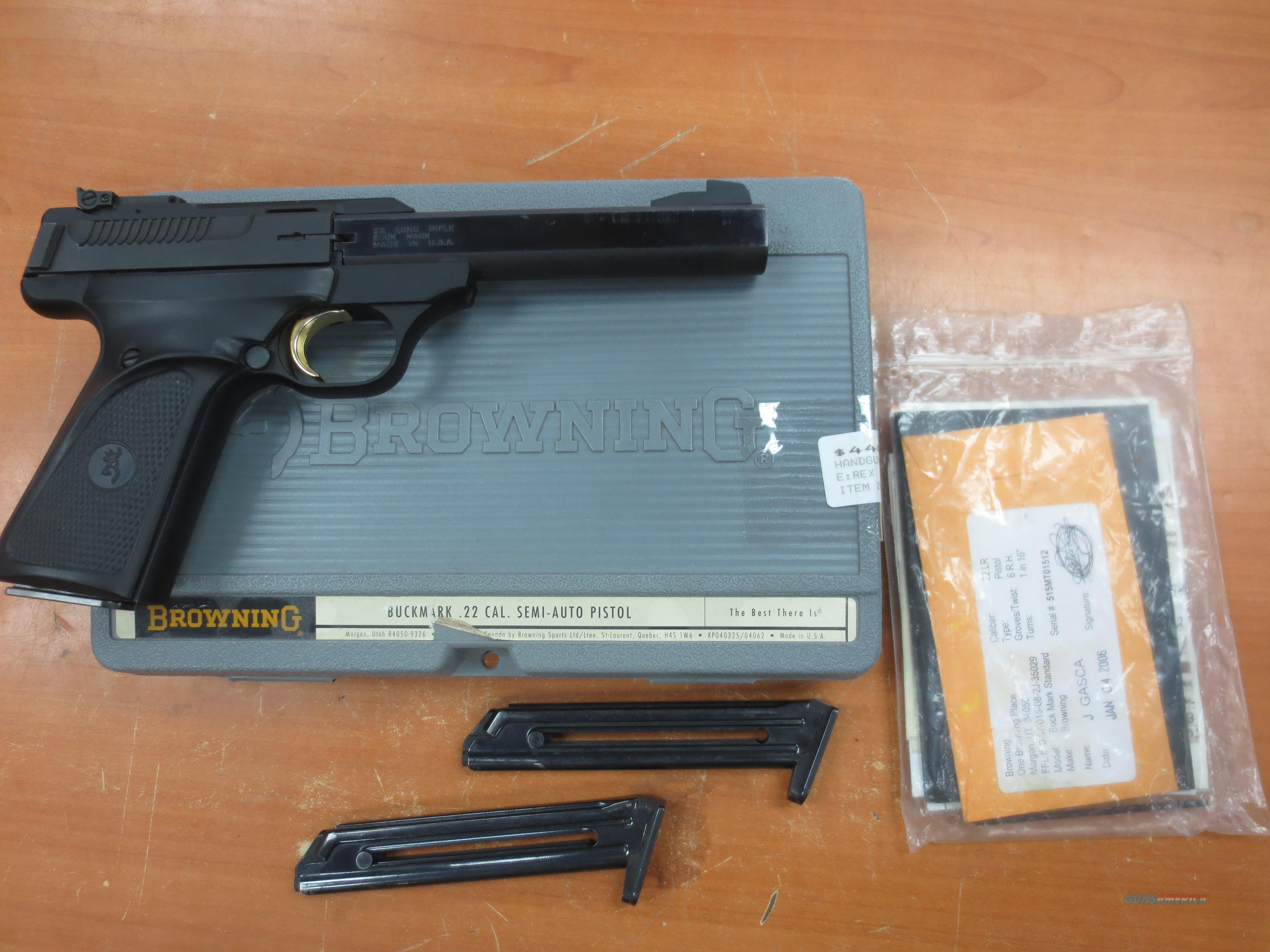 Browning Buckmark .22 LR with 3 magazines  Guns > Pistols > Browning Pistols > Buckmark