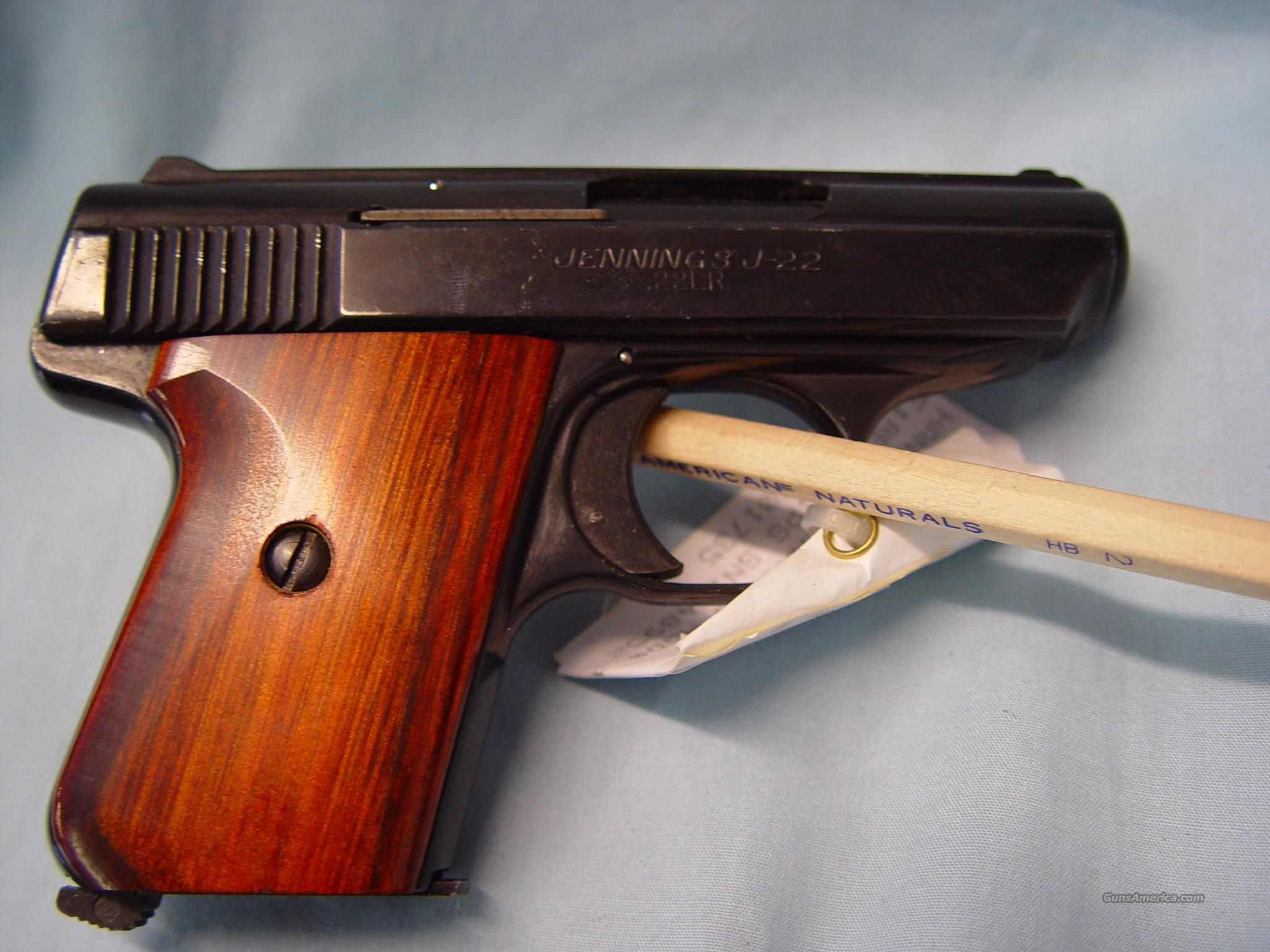 "Jennings Firearms Mod# J-22  2.5"" .22 lr cal pistol w/dark brown wood grips   Guns > Pistols > Jennings Pistols"