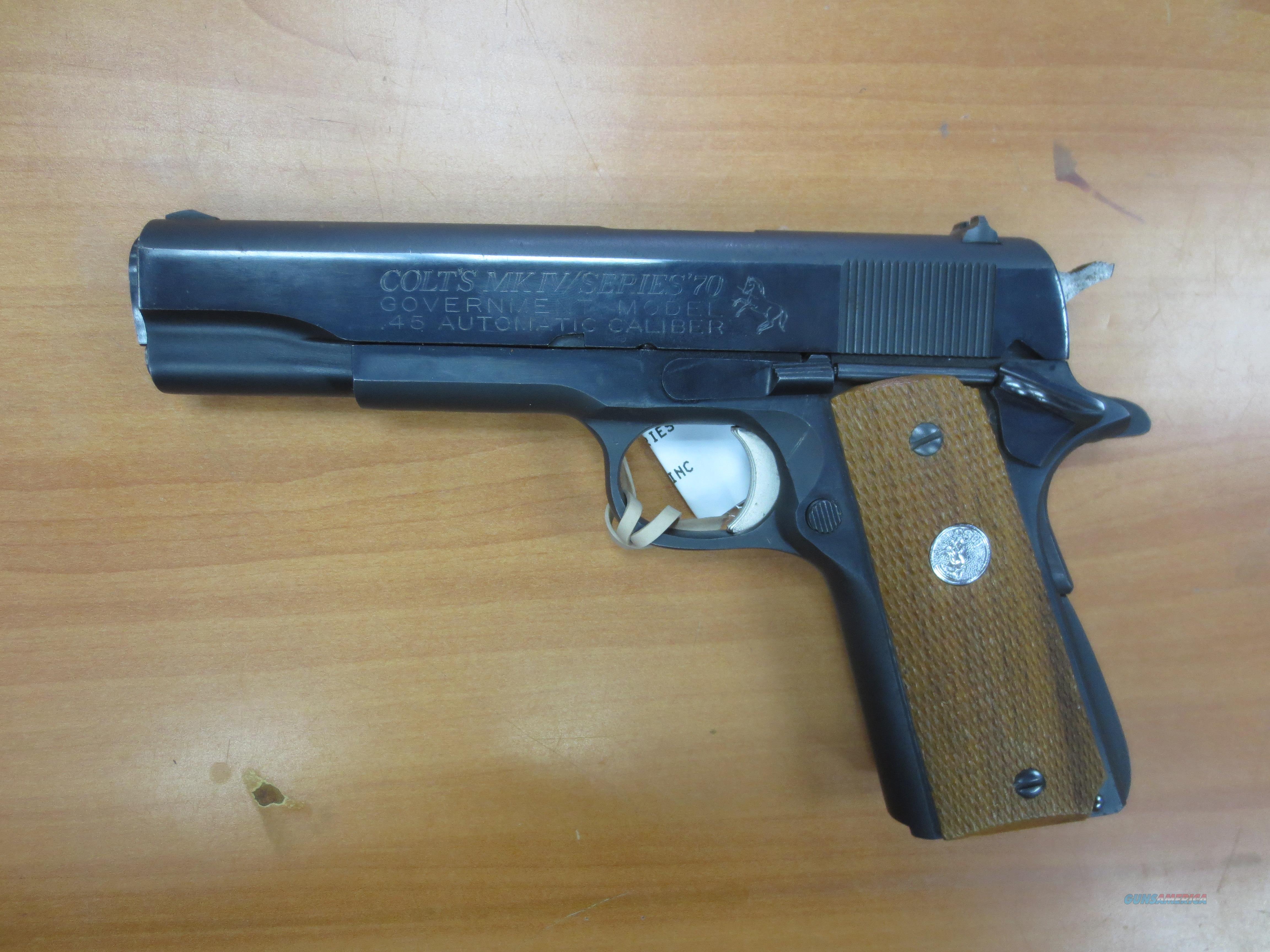 Colt mod# MK-IV ser 70 Govt .45 acp   Guns > Pistols > Colt Automatic Pistols (1911 & Var)