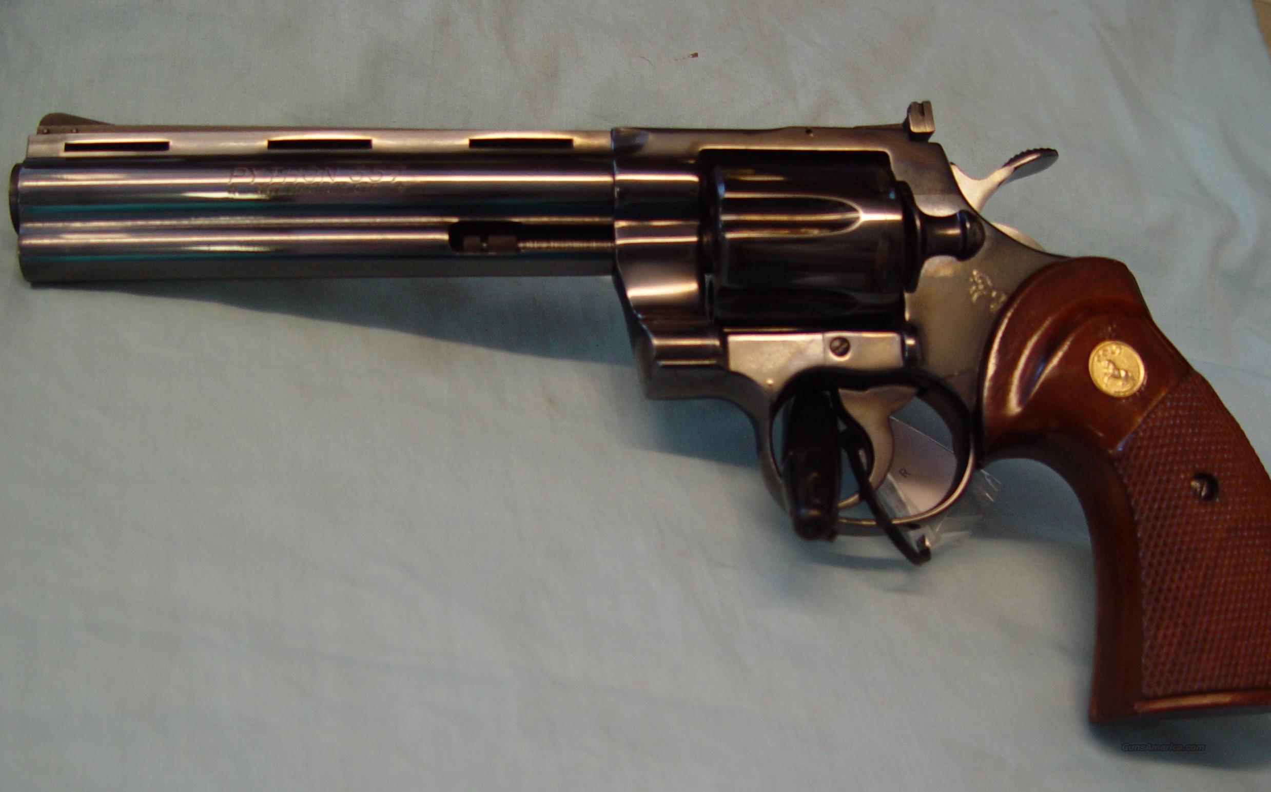 "Colt Python 6"" Blue in slightly used condition  Guns > Pistols > Colt Double Action Revolvers- Modern"