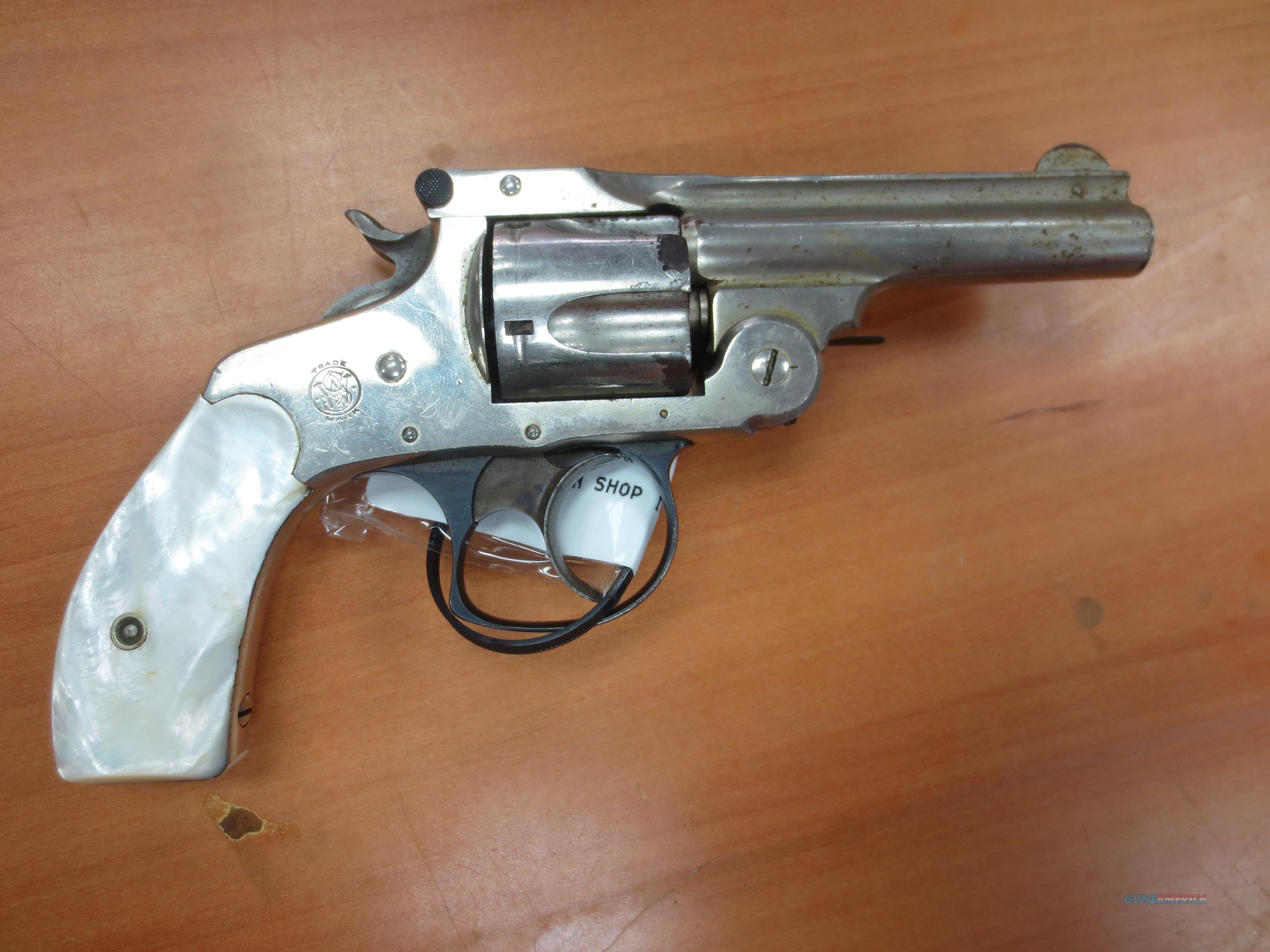 S&W mod# Topbreak 5 shot revolver w/ faux pearl grips & case colored trigger & hammer   Guns > Pistols > Smith & Wesson Revolvers > Pre-1945