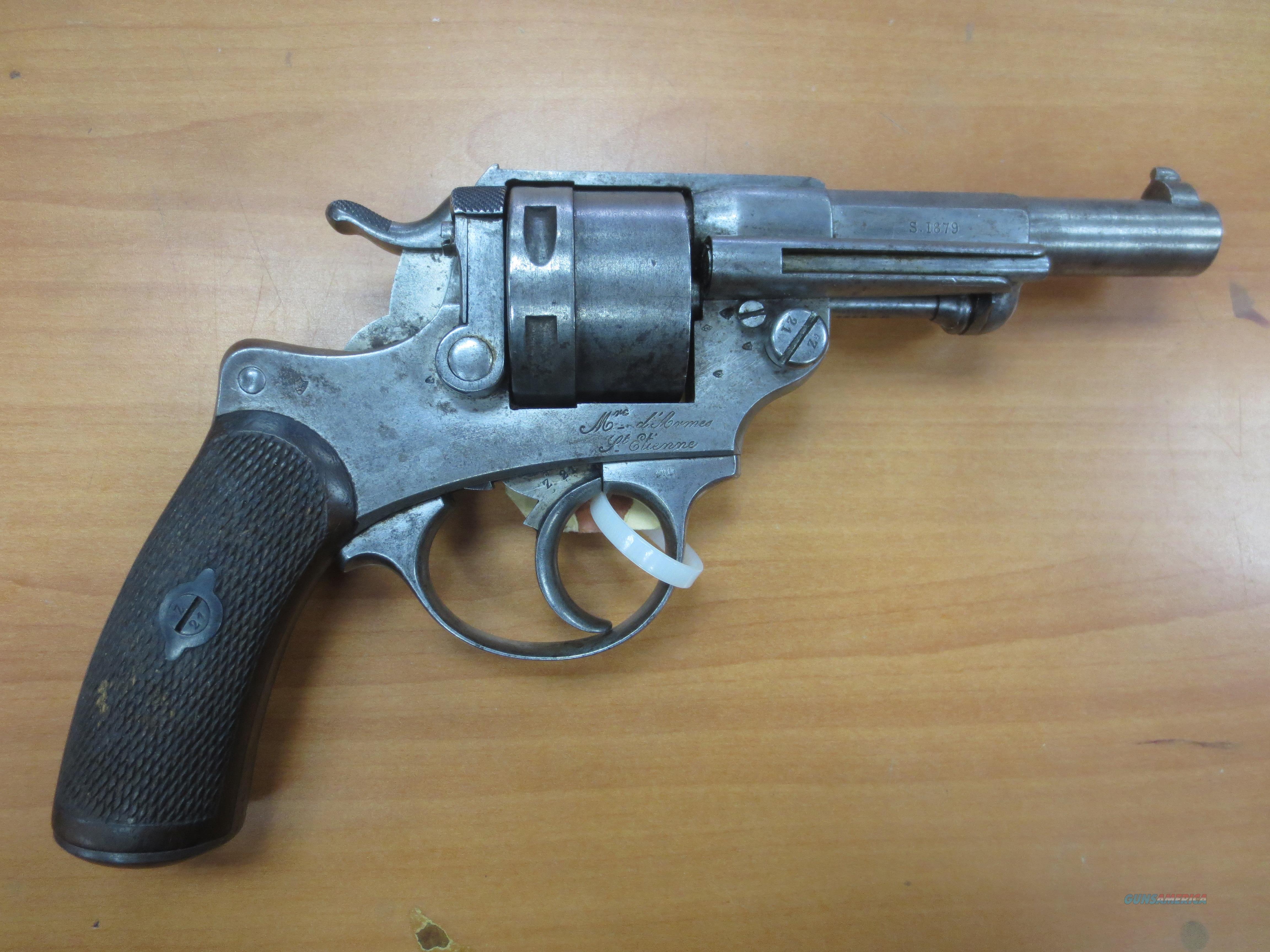 french 1873 revolver DA St Etienne MreDeArmes   Guns > Pistols > Antique (Pre-1899) Pistols - Ctg. Misc.