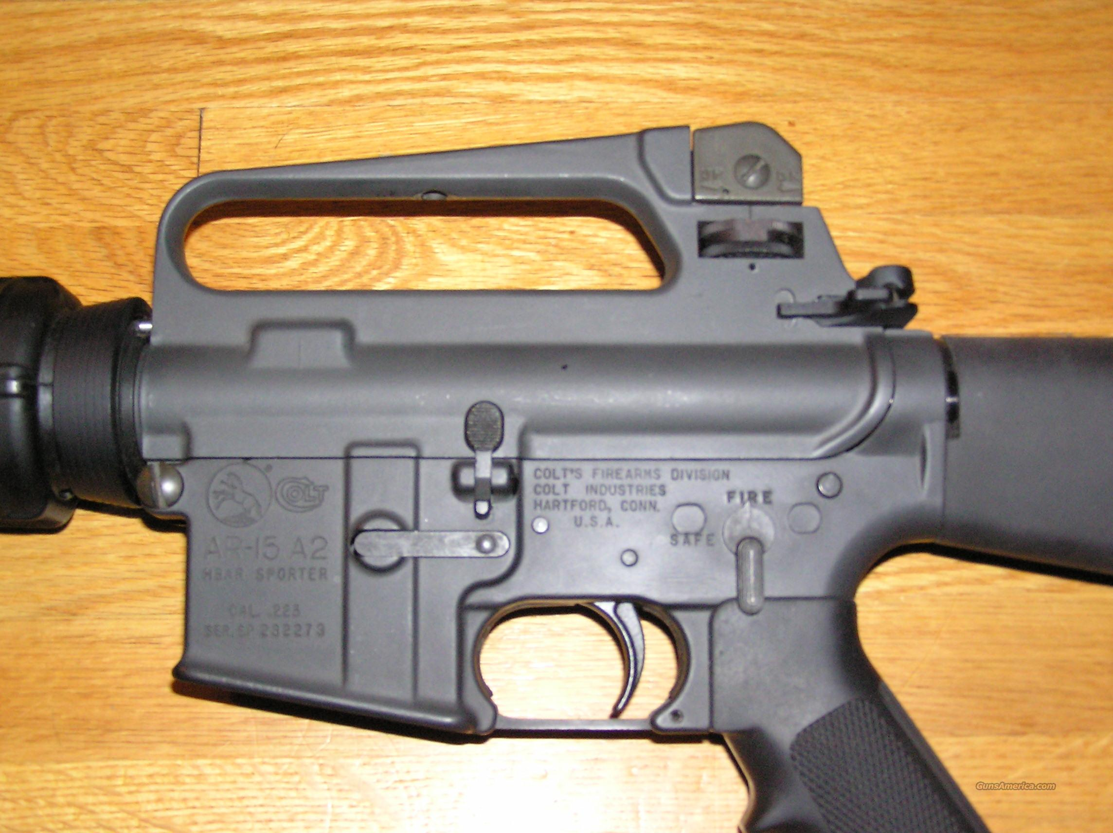 COLT AR-15 A2 HB SPORTER M-6600  Guns > Rifles > Colt Military/Tactical Rifles
