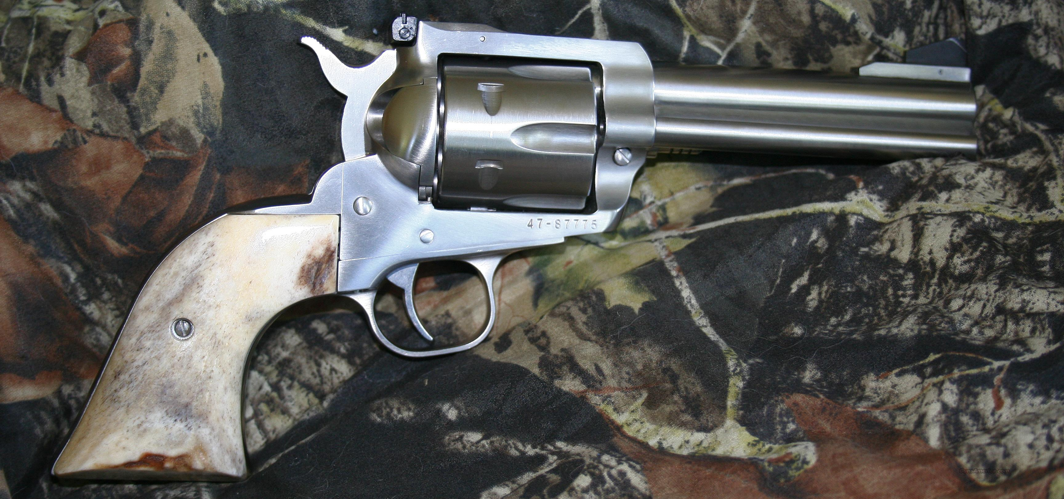 RUGER BLACK HAWK, STAINLESS, 4 5/8 BBL  & STAG GRIPS  ***FREE POSTAGE***  Guns > Pistols > Ruger Single Action Revolvers > Blackhawk Type