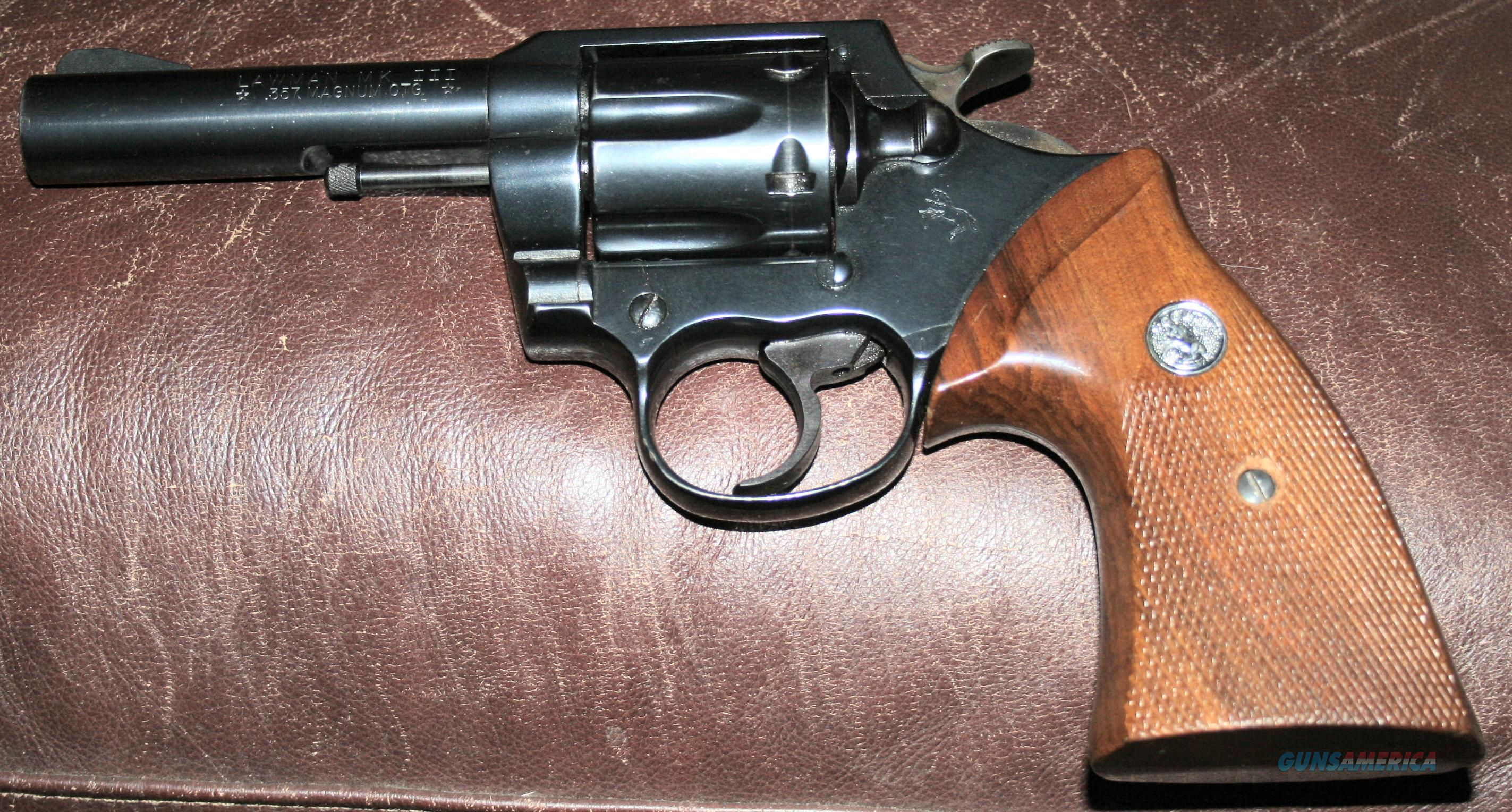 Colt Lawman MK III 357 MAG 4 INCH  Guns > Pistols > Colt Double Action Revolvers- Modern