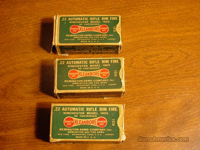 .22 Auto Rifle Rim Fire Ammo - Winchester Mdl 1903  Non-Guns > Ammunition