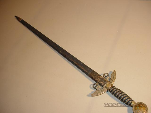 WW II German Luftwaffe Sword Silver w/ Hanger   Non-Guns > Knives/Swords > Swords > Hand Made
