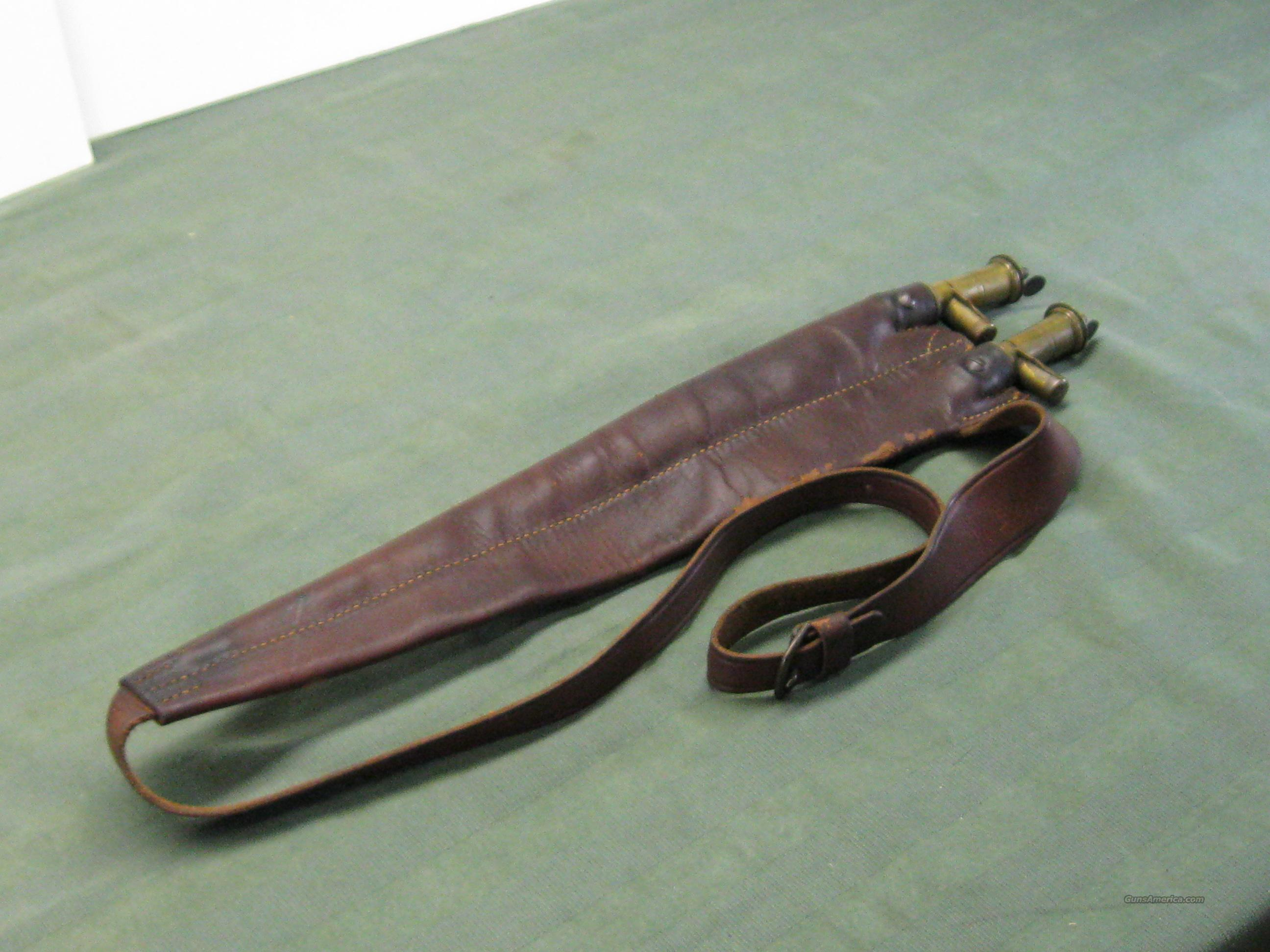 Parker, Fox, etc.Antique leather shot pouch  Guns > Shotguns > Parker Shotguns