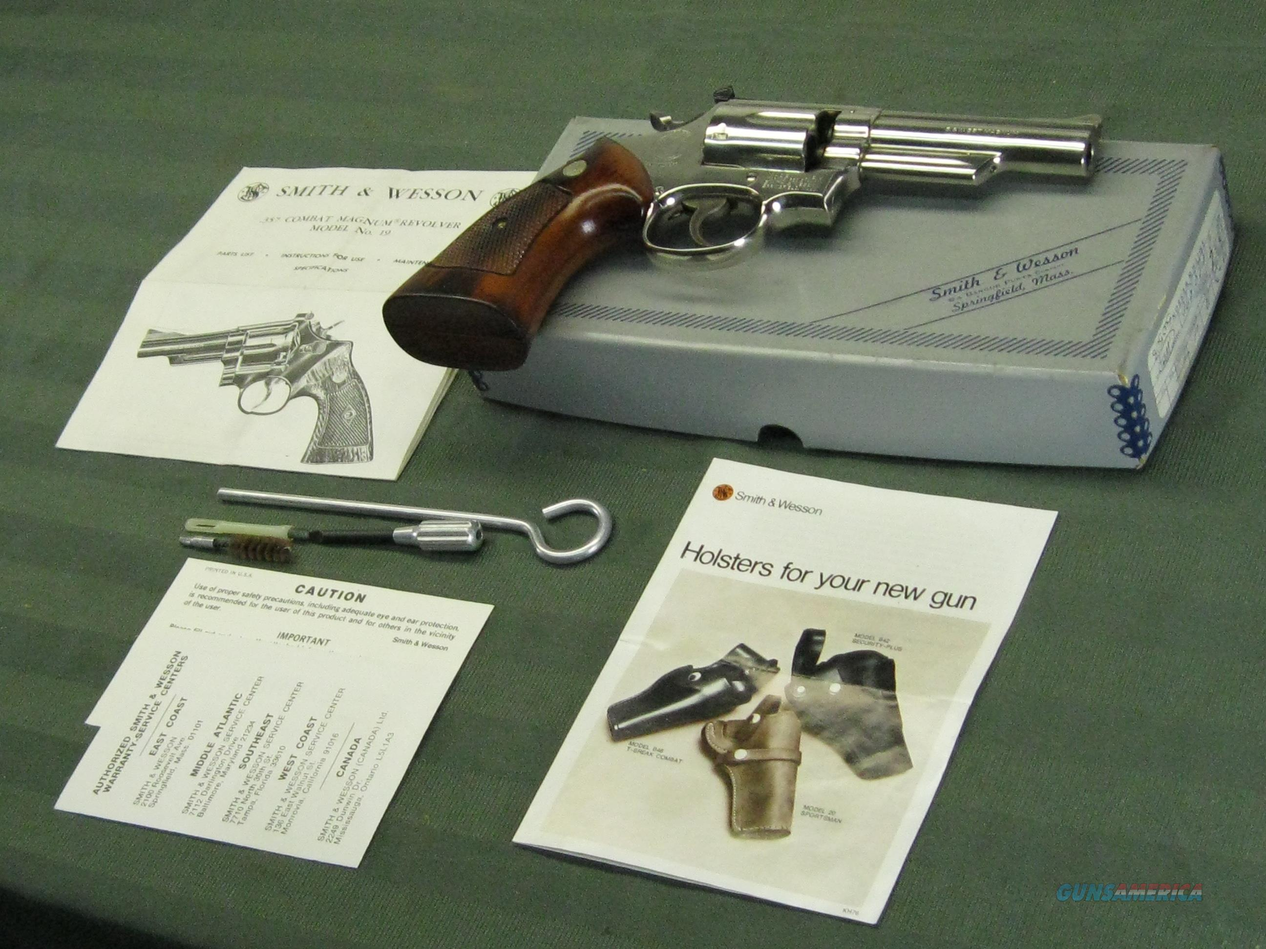 Smith & Wesson Model 19-3 .357 Mag. Nickel  Guns > Pistols > Smith & Wesson Revolvers > Med. Frame ( K/L )