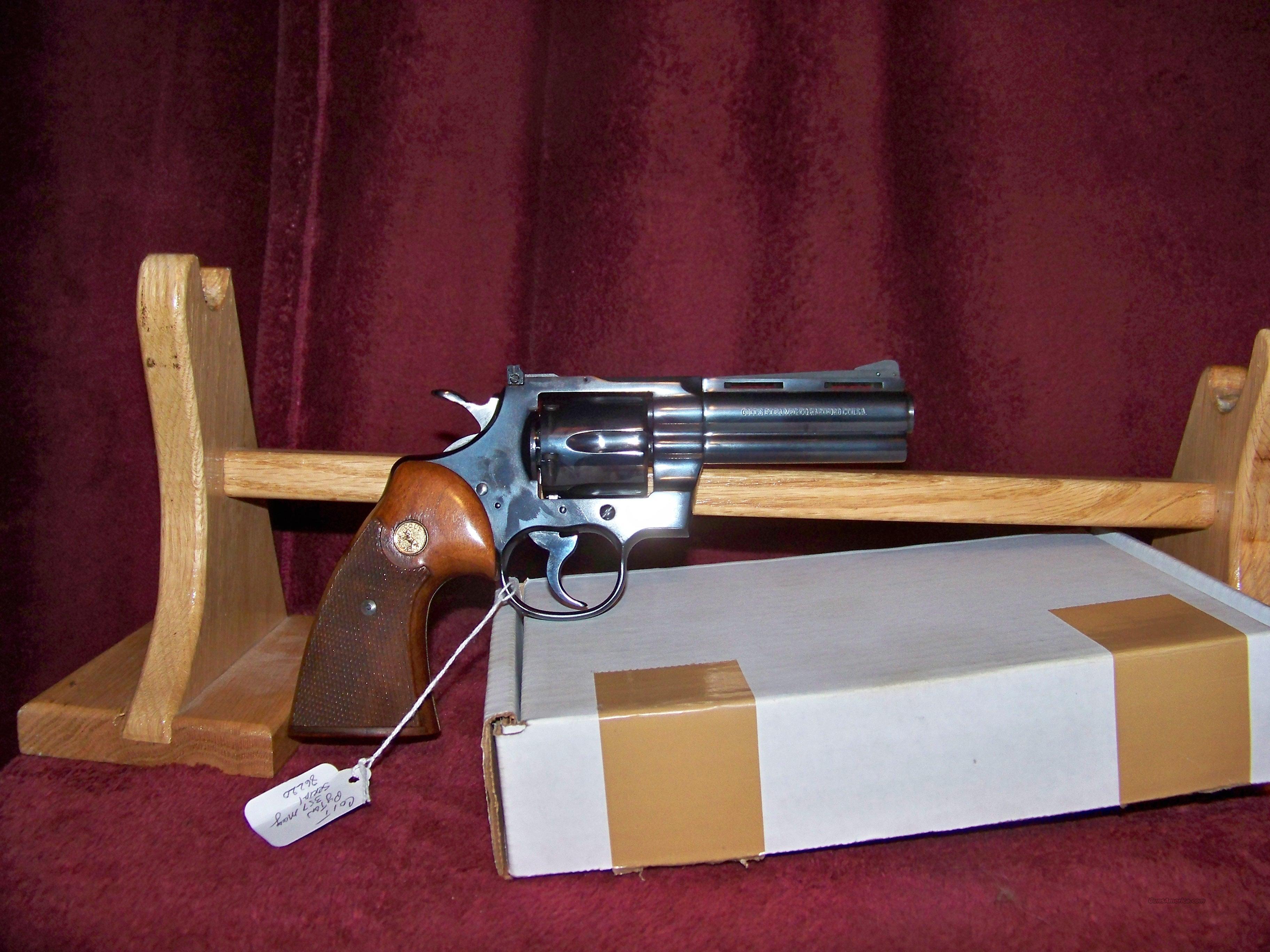 """COLT PYTHON BLUE 4""""  Guns > Pistols > Colt Double Action Revolvers- Modern"""