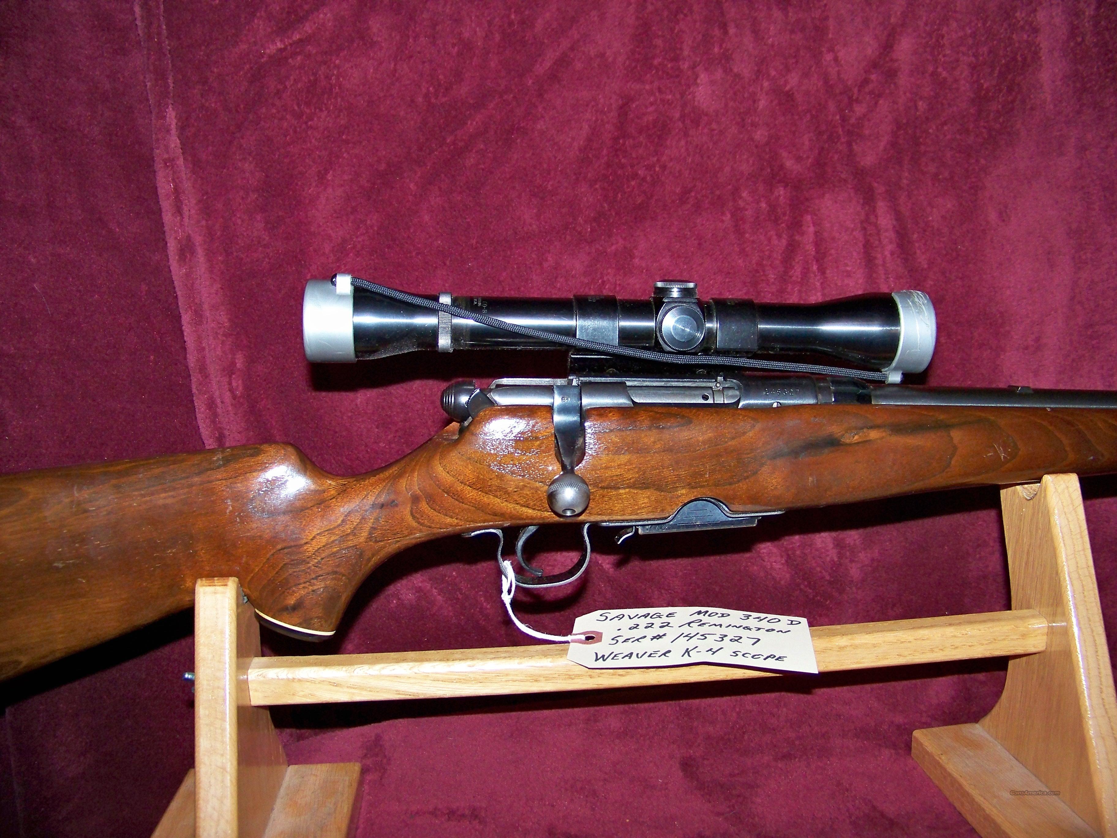 SAVAGE MODEL 340D 222 REM for sale