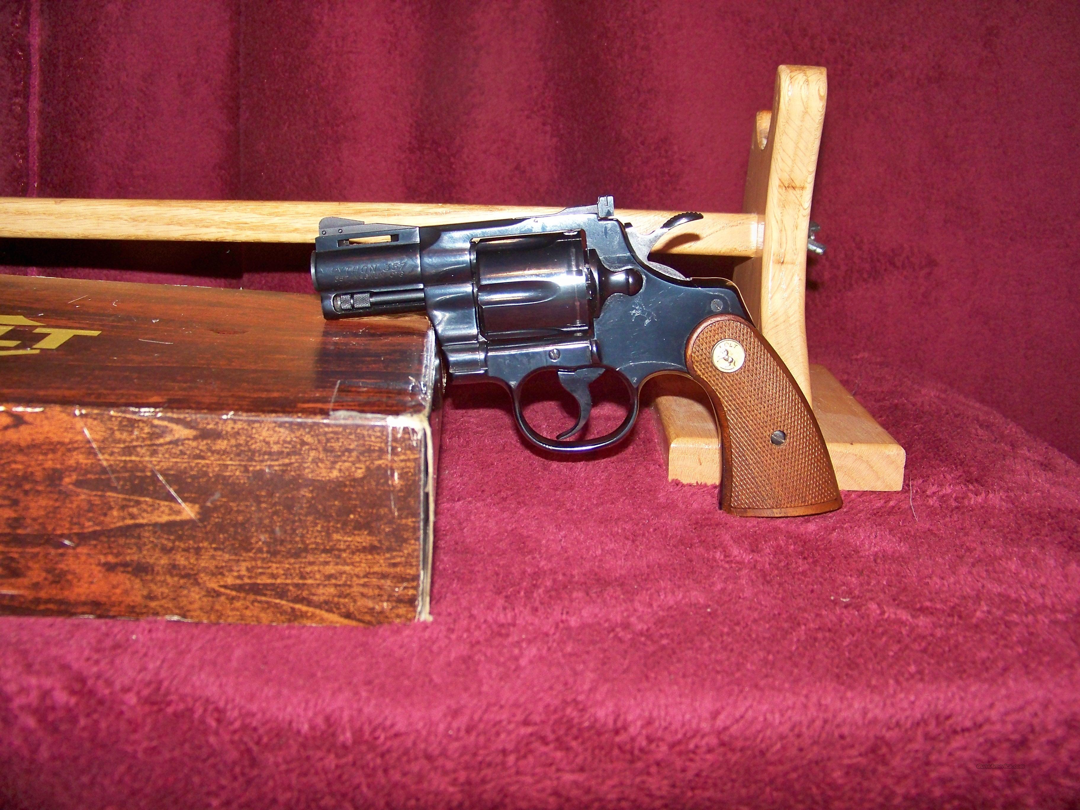 """COLT PYTHON BLUE 2 1/2""""  Guns > Pistols > Colt Double Action Revolvers- Modern"""