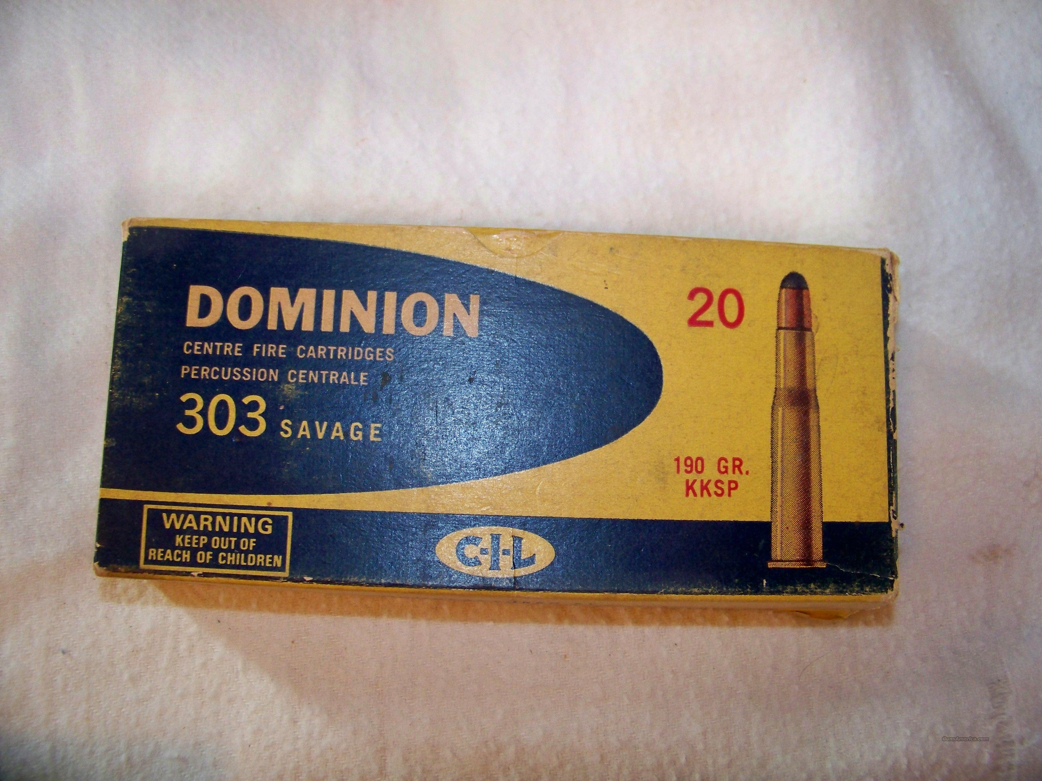 DOMINON 303 SAVAGE 190 GR  Non-Guns > Ammunition