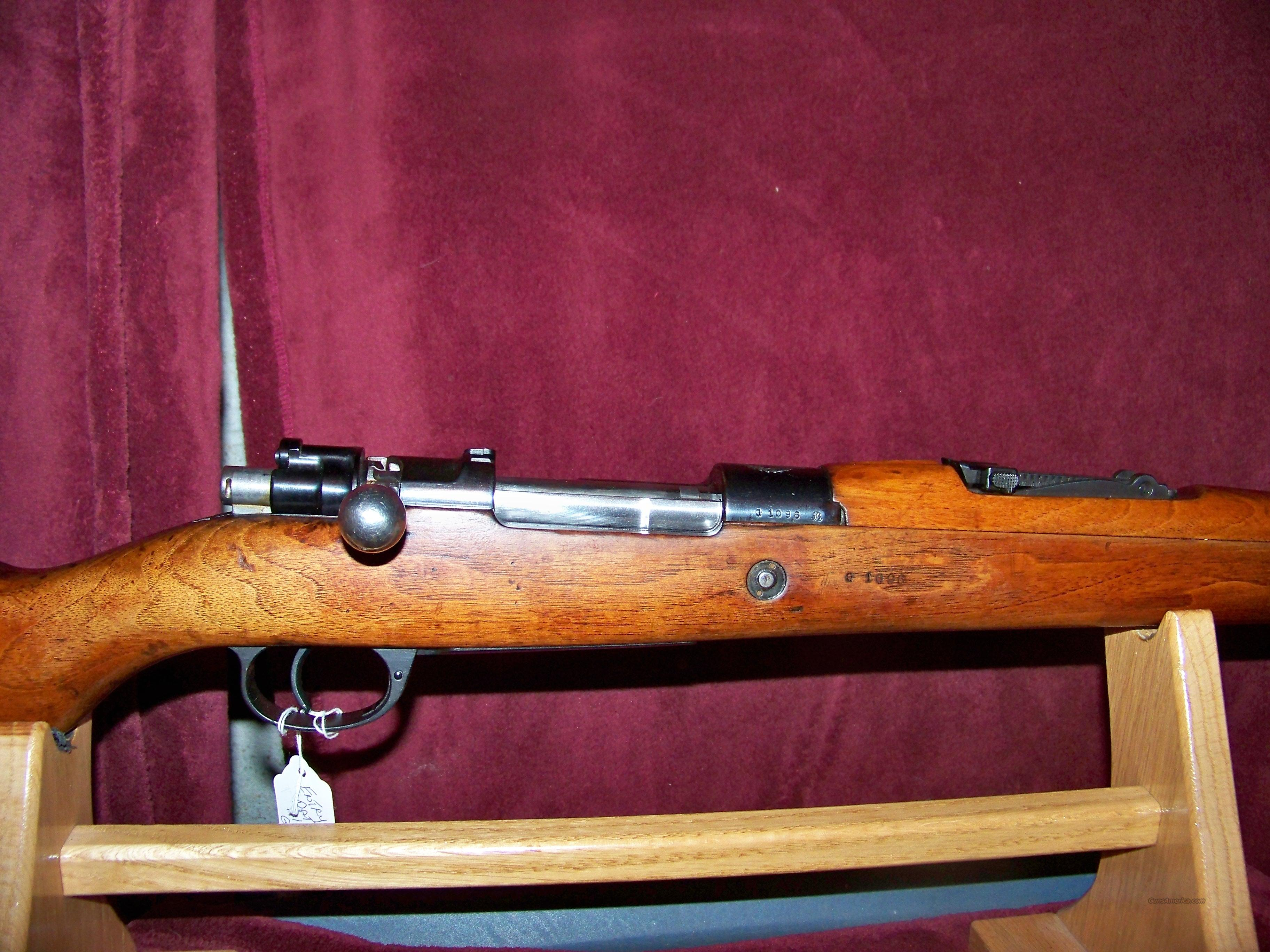 MAUSER MODEL 1909  7.65 ARGENTINE  Guns > Rifles > Military Misc. Rifles Non-US > Other