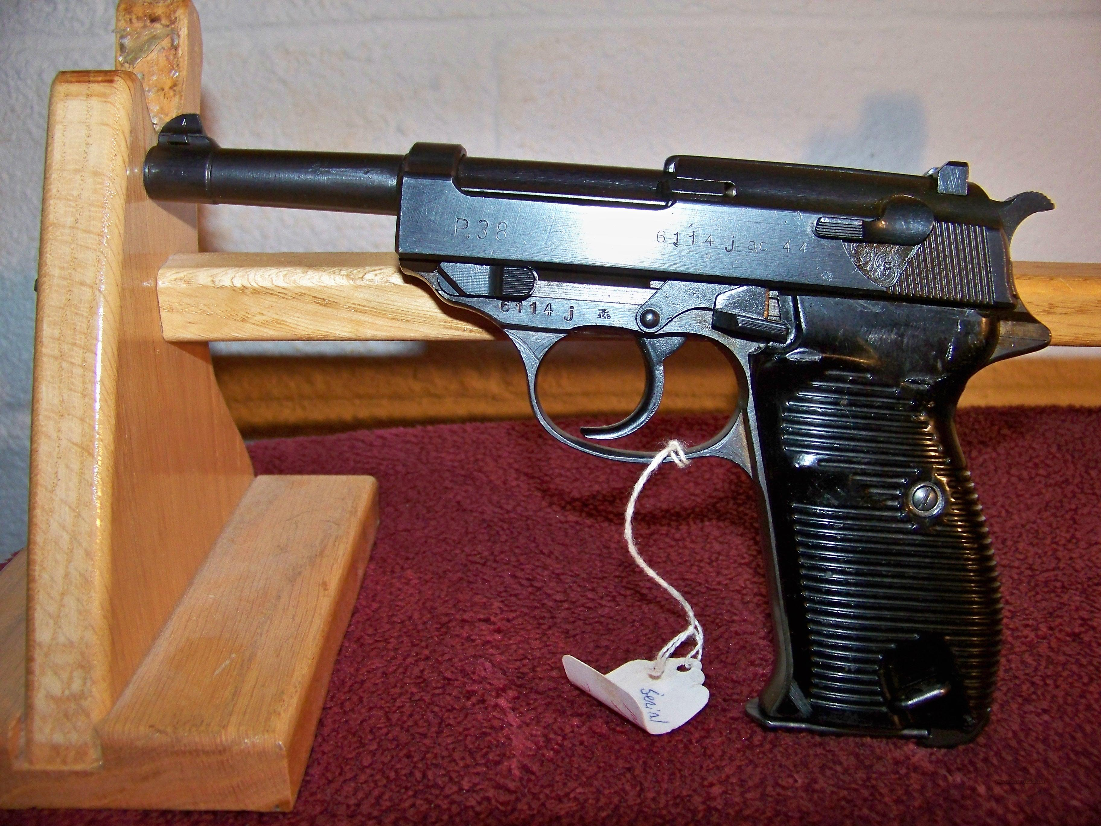 WALTHER P38 MATCHING NUMBERS  Guns > Pistols > Military Misc. Pistols Non-US