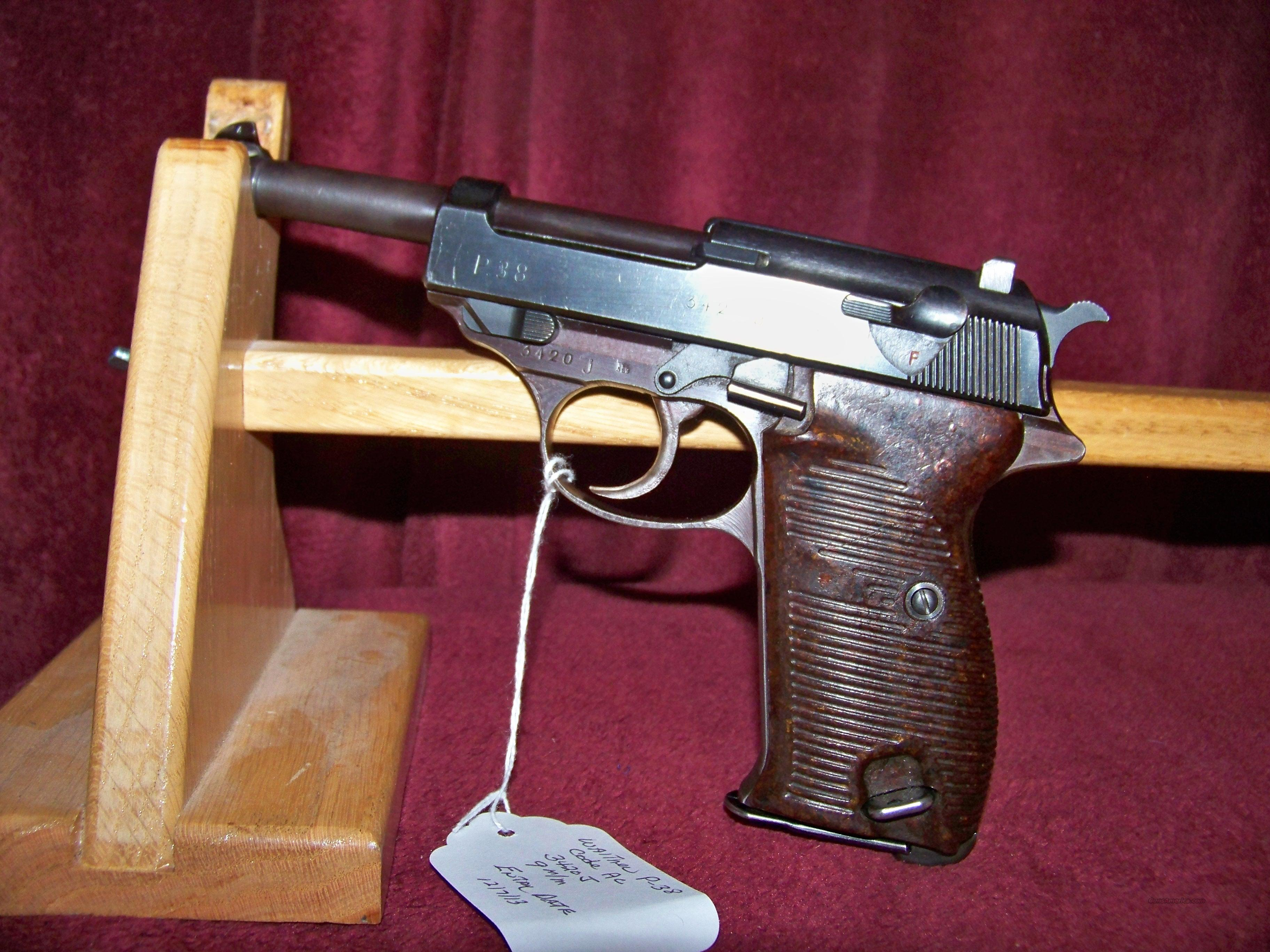 Walther P-38 Code AC made in 44  Guns > Pistols > Military Misc. Pistols Non-US