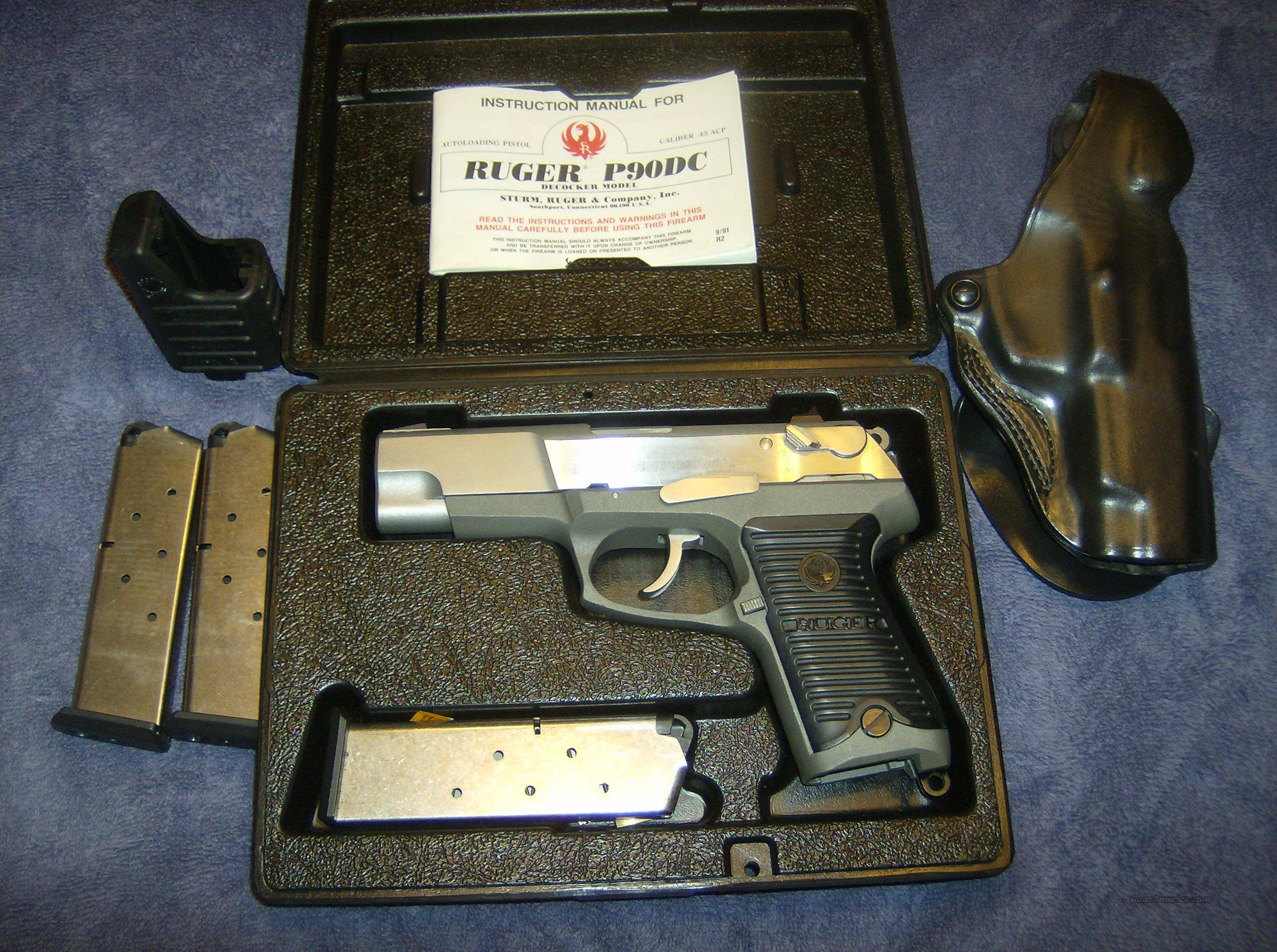 RUGER P90DC 45ACP AS NEW IN BOX  Guns > Pistols > Ruger Semi-Auto Pistols > P-Series