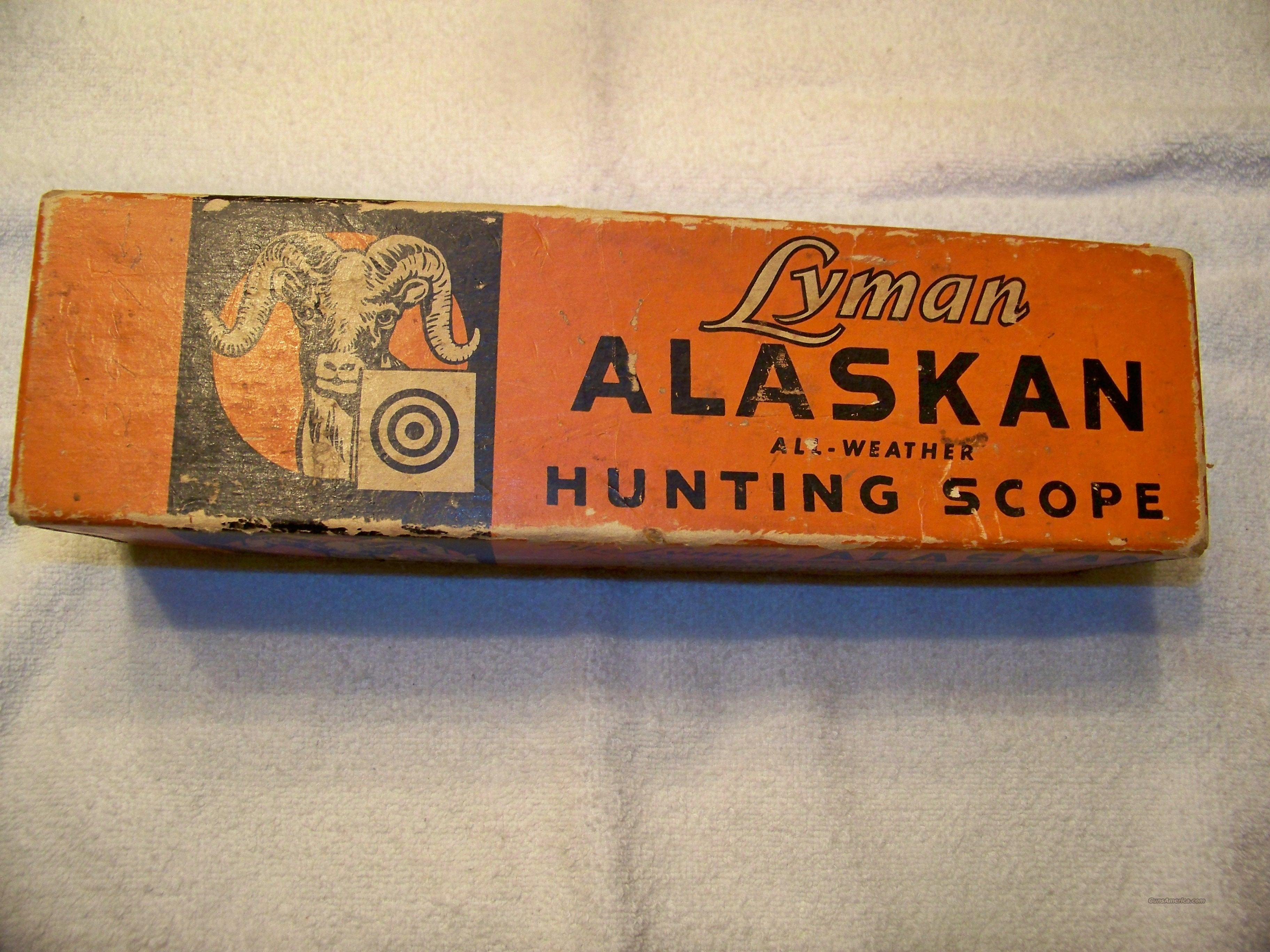 LYMAN ALASKAN SCOPE BOX ONLY  Non-Guns > Scopes/Mounts/Rings & Optics > Rifle Scopes > Fixed Focal Length