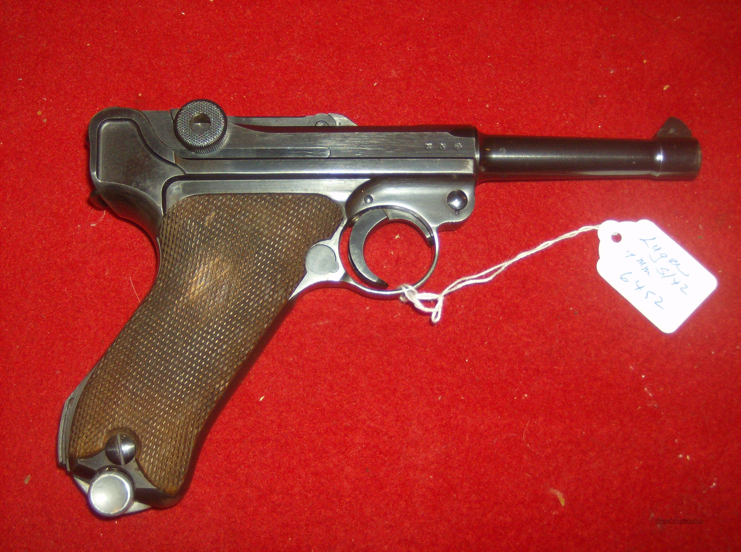 LUGER S/42 DATED 1938  Guns > Pistols > Luger Pistols