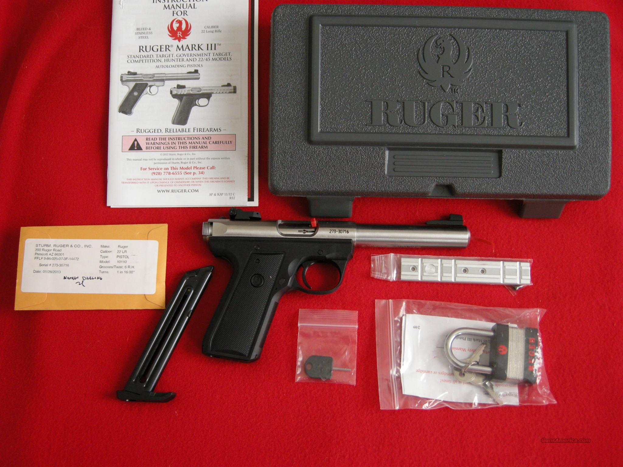 Ruger Mark III 22/45 PST  Guns > Pistols > Ruger Semi-Auto Pistols > Mark I & II Family