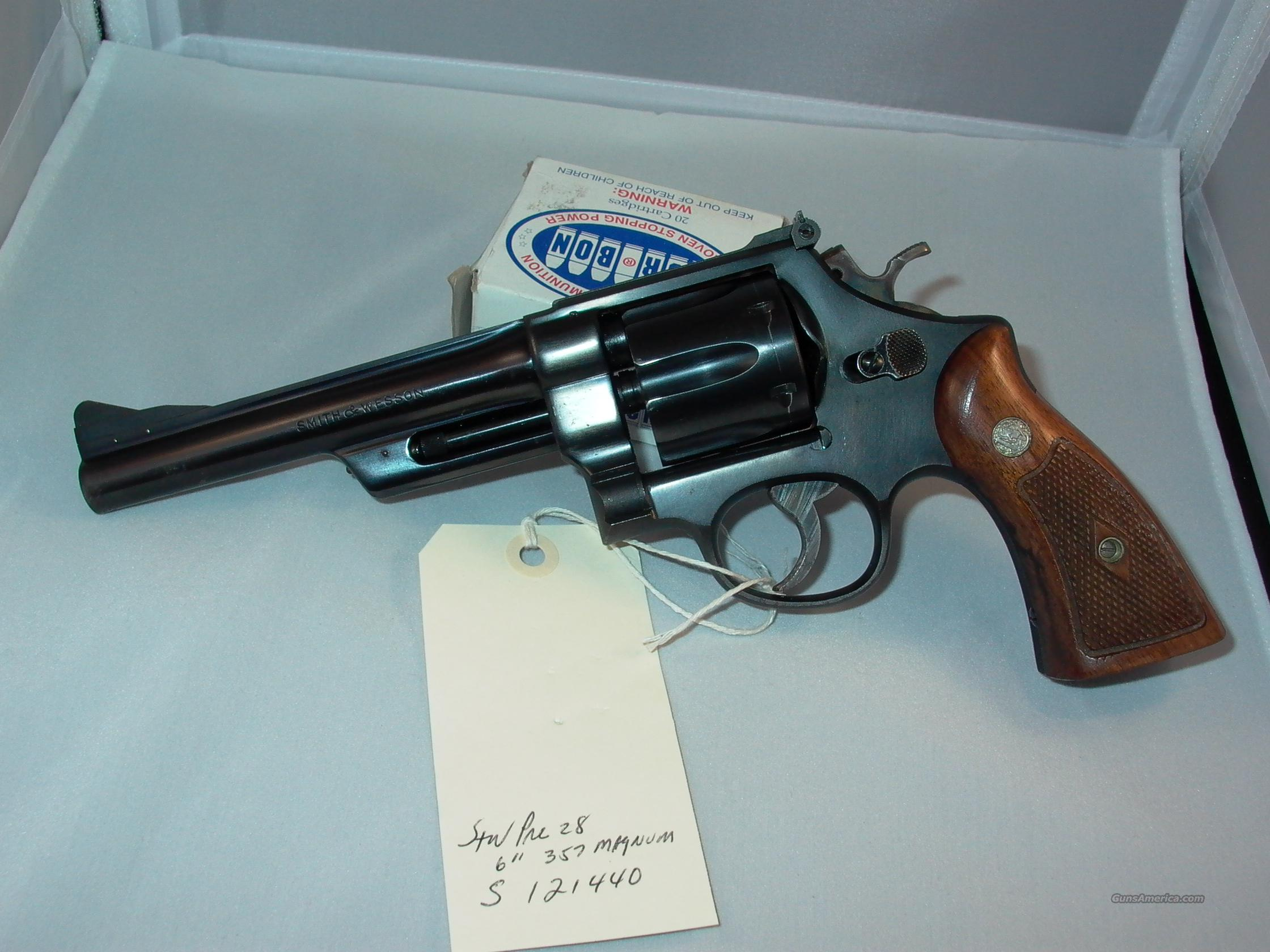 S&W PRE MODEL 28 HIGHWAY PATROLMAN  Guns > Pistols > Smith & Wesson Revolvers > Full Frame Revolver