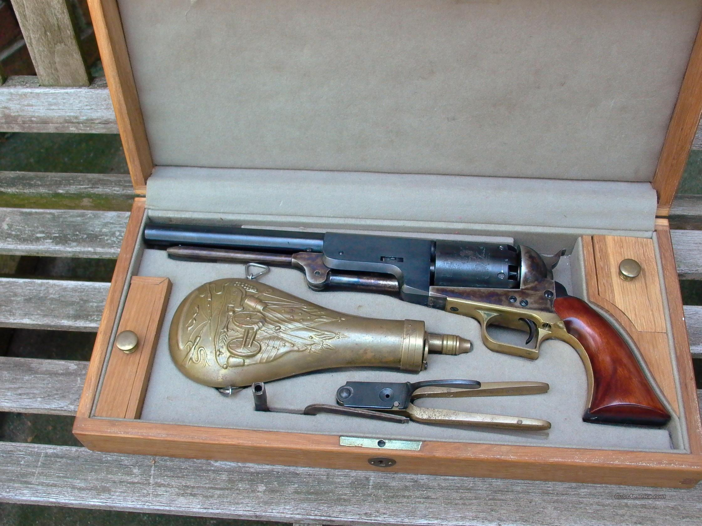Colt 1847 Cased A.S.M. w Mold, Wrench,Flask  Guns > Pistols > Colt Percussion Revolver - Modern