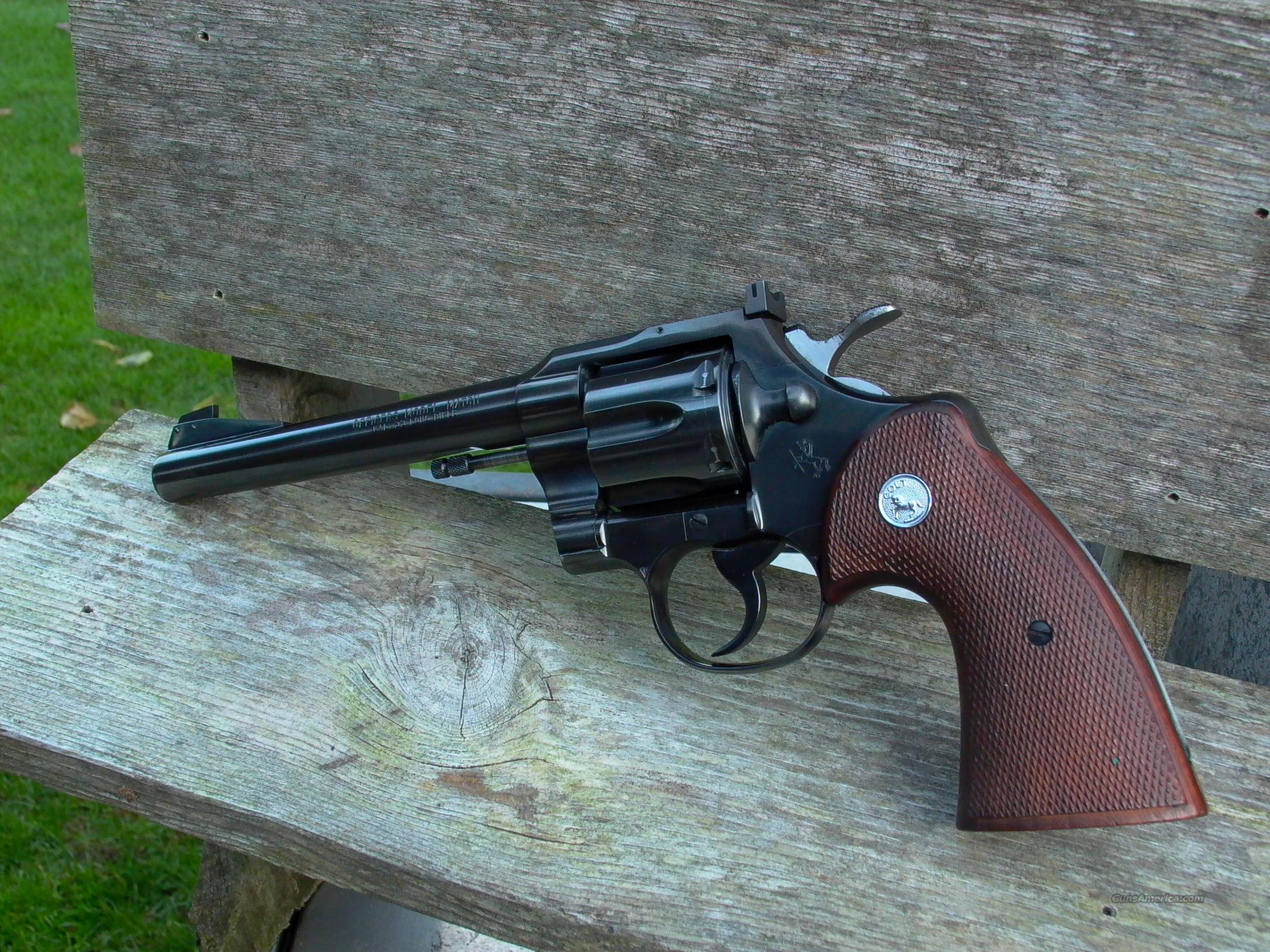 Colt officer model match  Guns > Pistols > Colt Double Action Revolvers- Modern